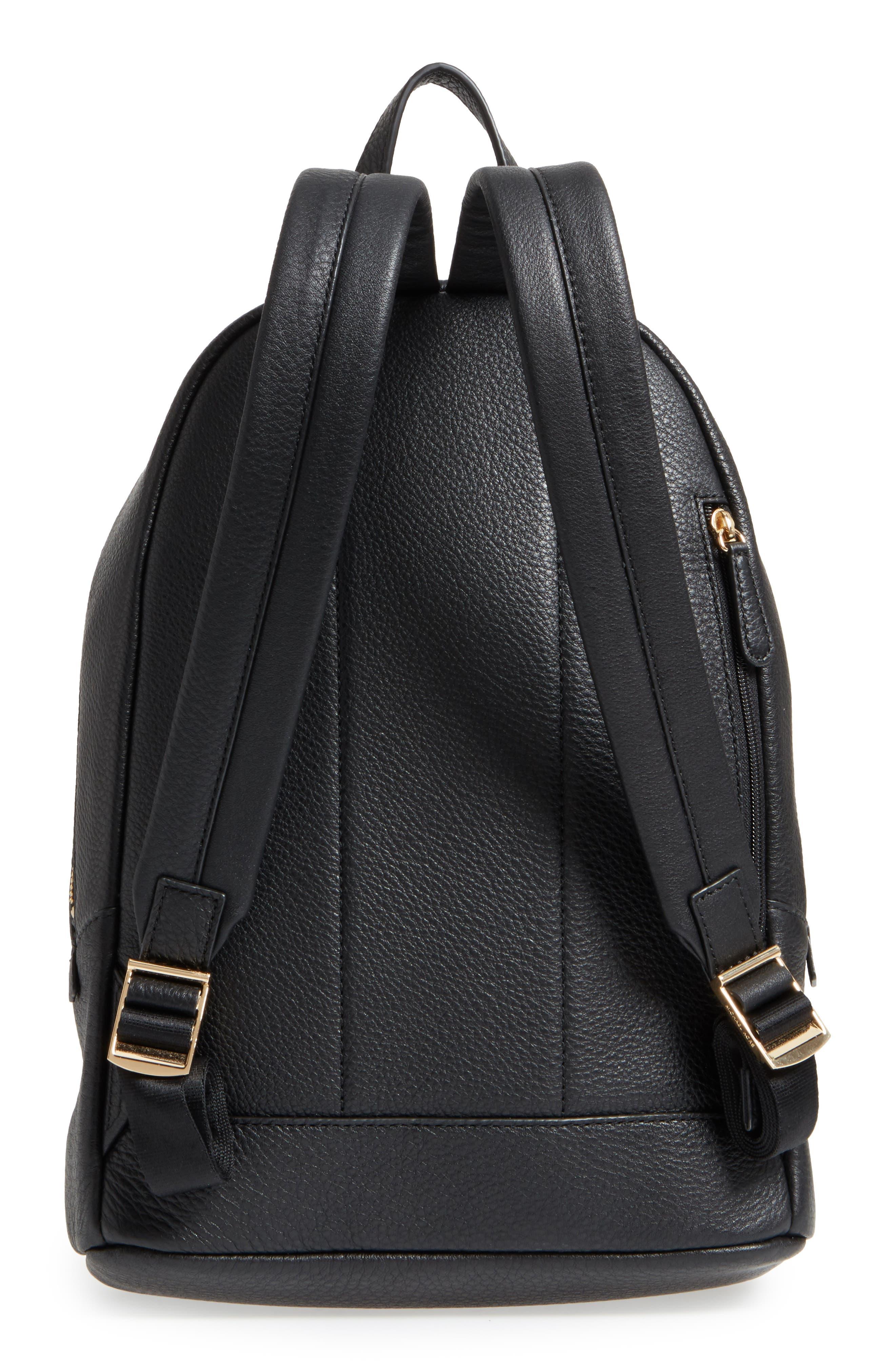 Large Wythe Studded Leather Backpack,                             Alternate thumbnail 3, color,                             001