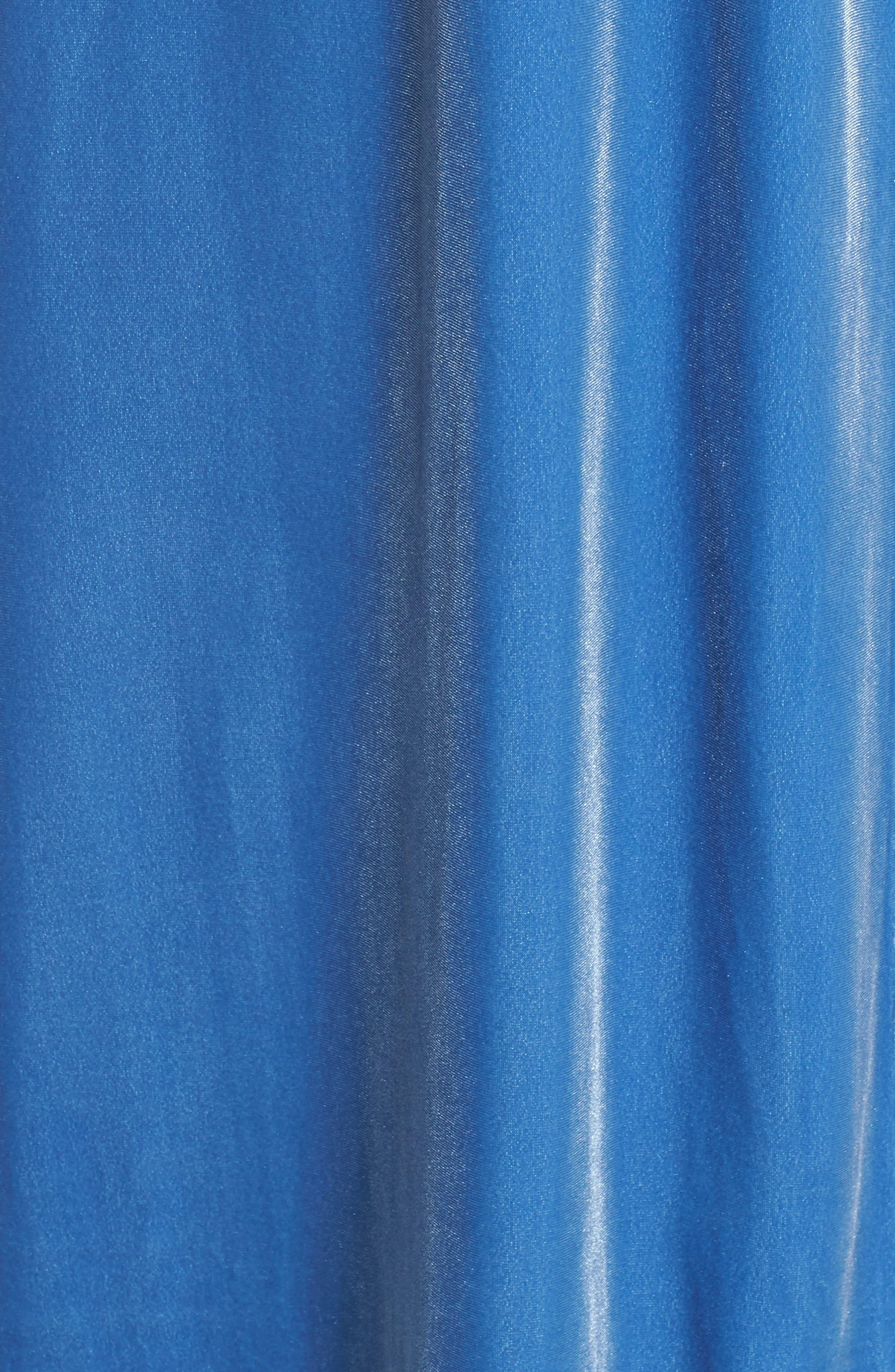 Dream Away Velour Robe,                             Alternate thumbnail 5, color,                             BLUE DELFT