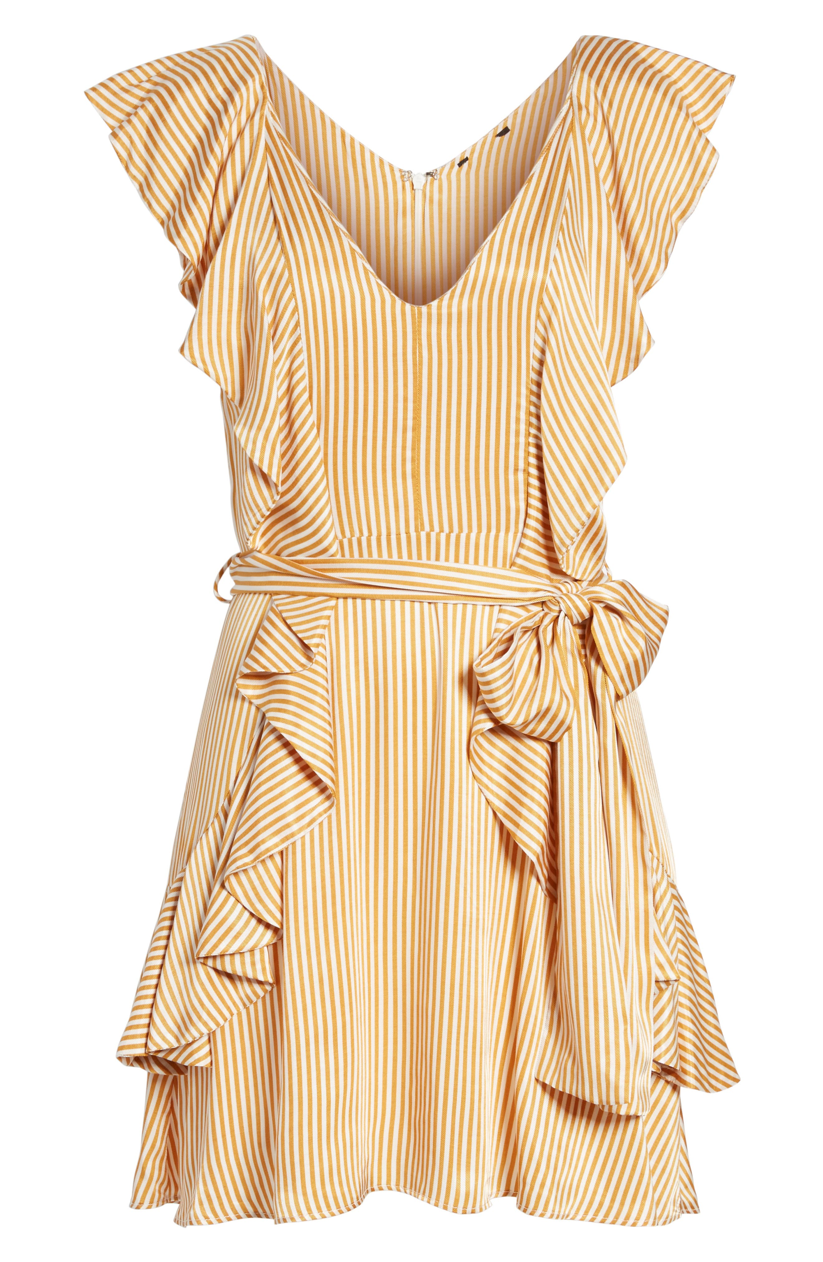 Clara Ruffle Minidress,                             Alternate thumbnail 6, color,                             250