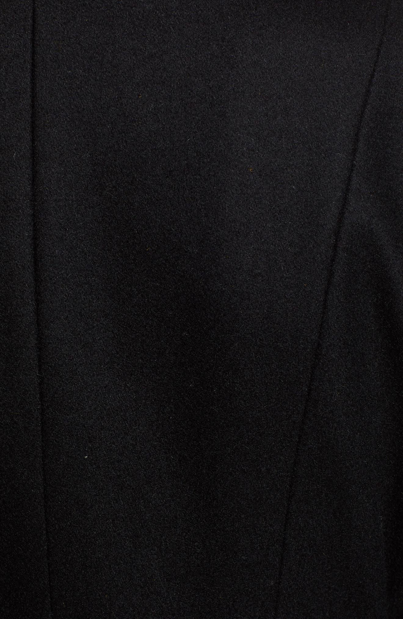Elaine Boiled Wool Blend Coat,                             Alternate thumbnail 7, color,                             BLACK