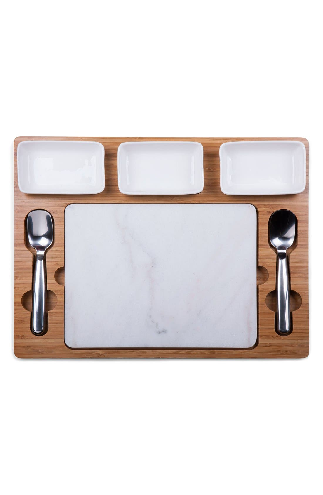 'Parlor' Ice Cream Mixing Set,                             Alternate thumbnail 3, color,                             BROWN