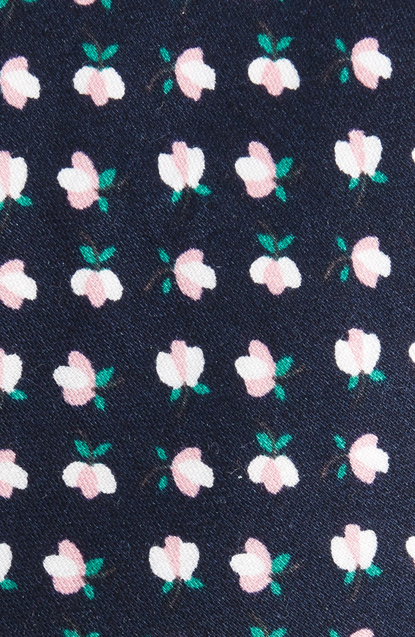 Rufford Mini Floral Cotton Tie,                             Alternate thumbnail 2, color,