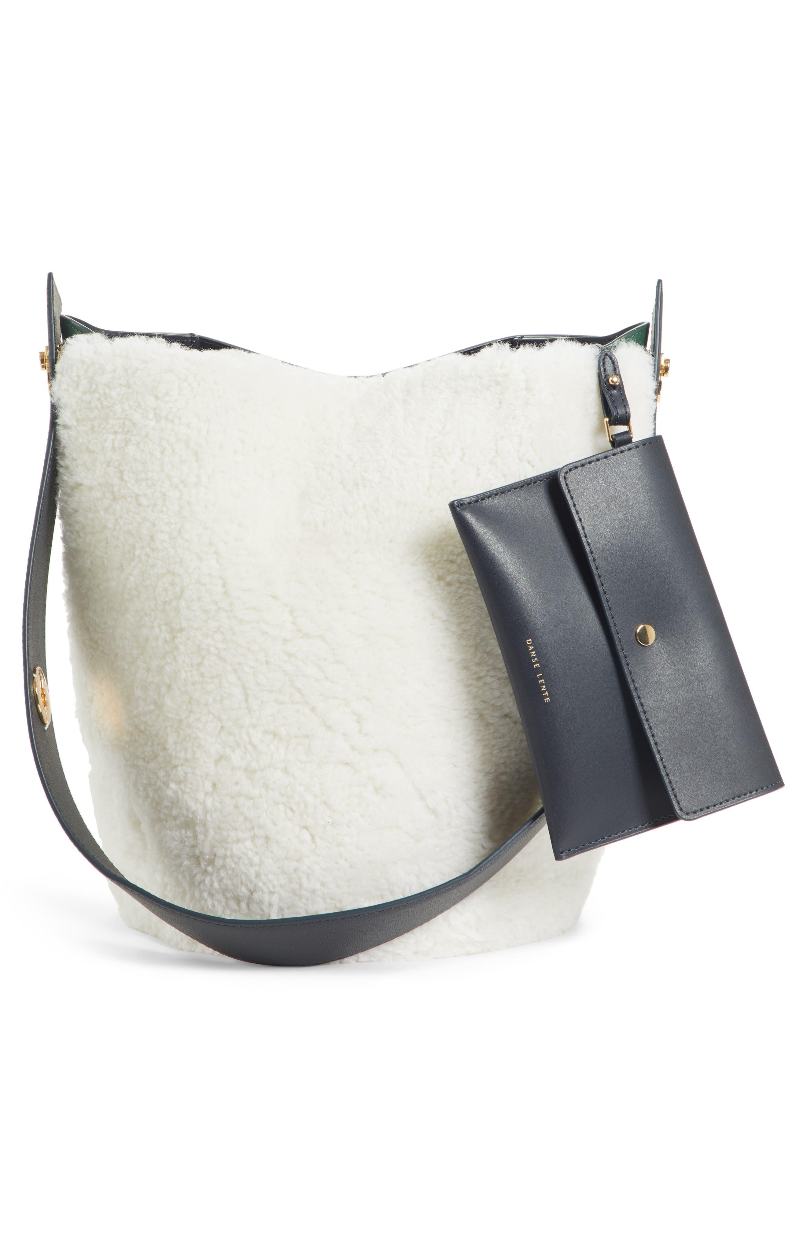 Mini Lorna Leather Bucket Bag,                             Alternate thumbnail 3, color,                             100