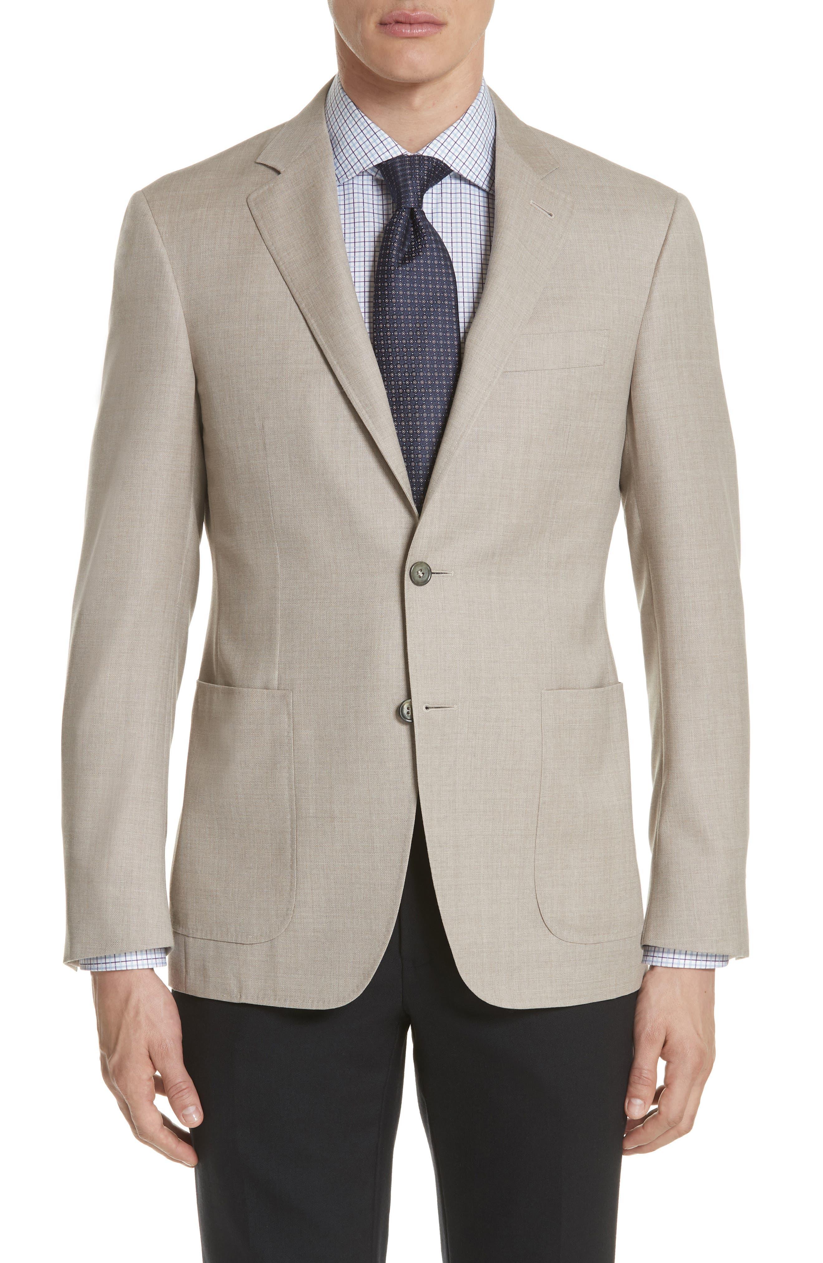 Classic Fit Wool Sport Coat,                             Main thumbnail 1, color,