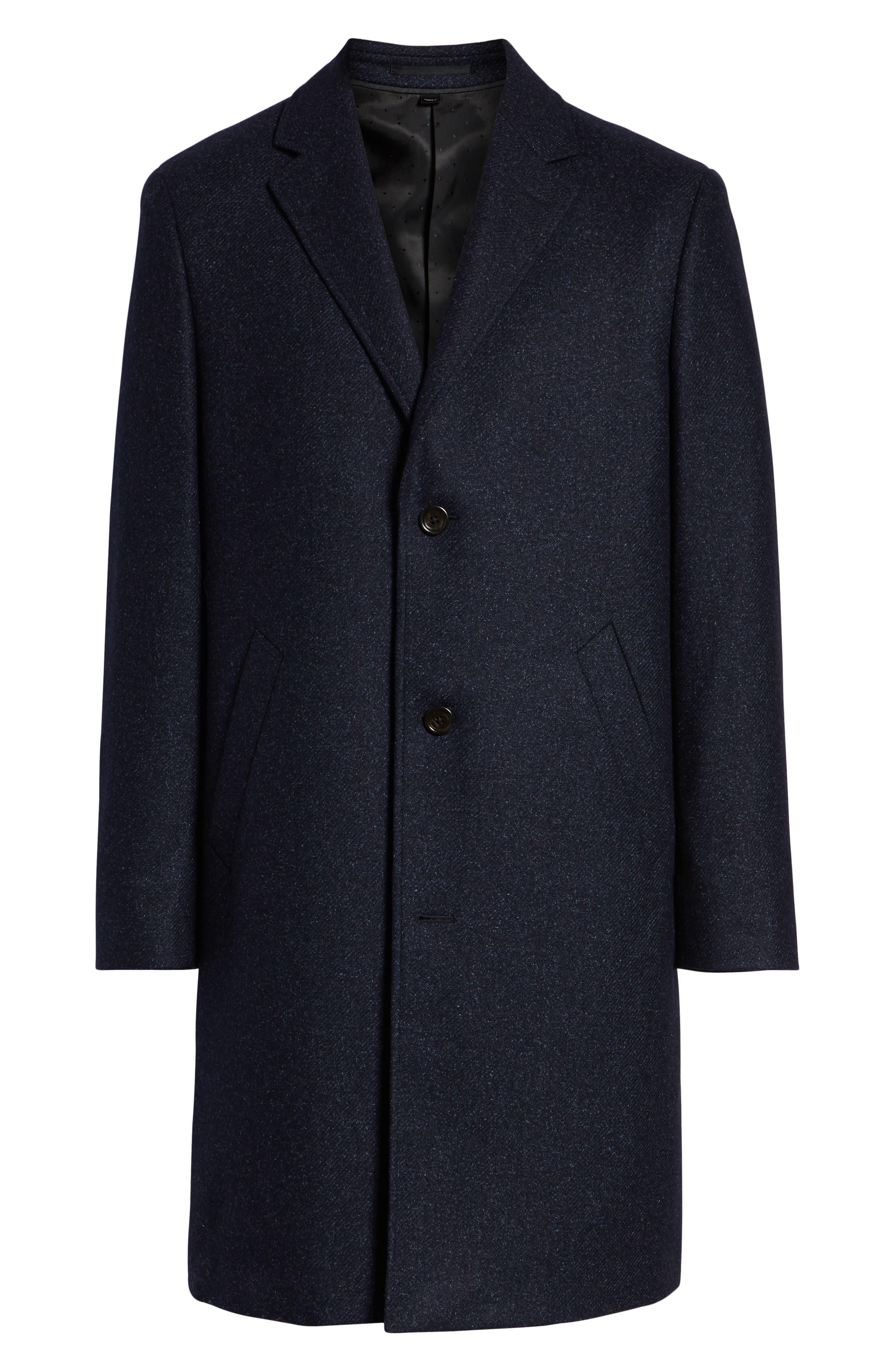 Destination Water Resistant Tweed Topcoat,                             Alternate thumbnail 6, color,                             400