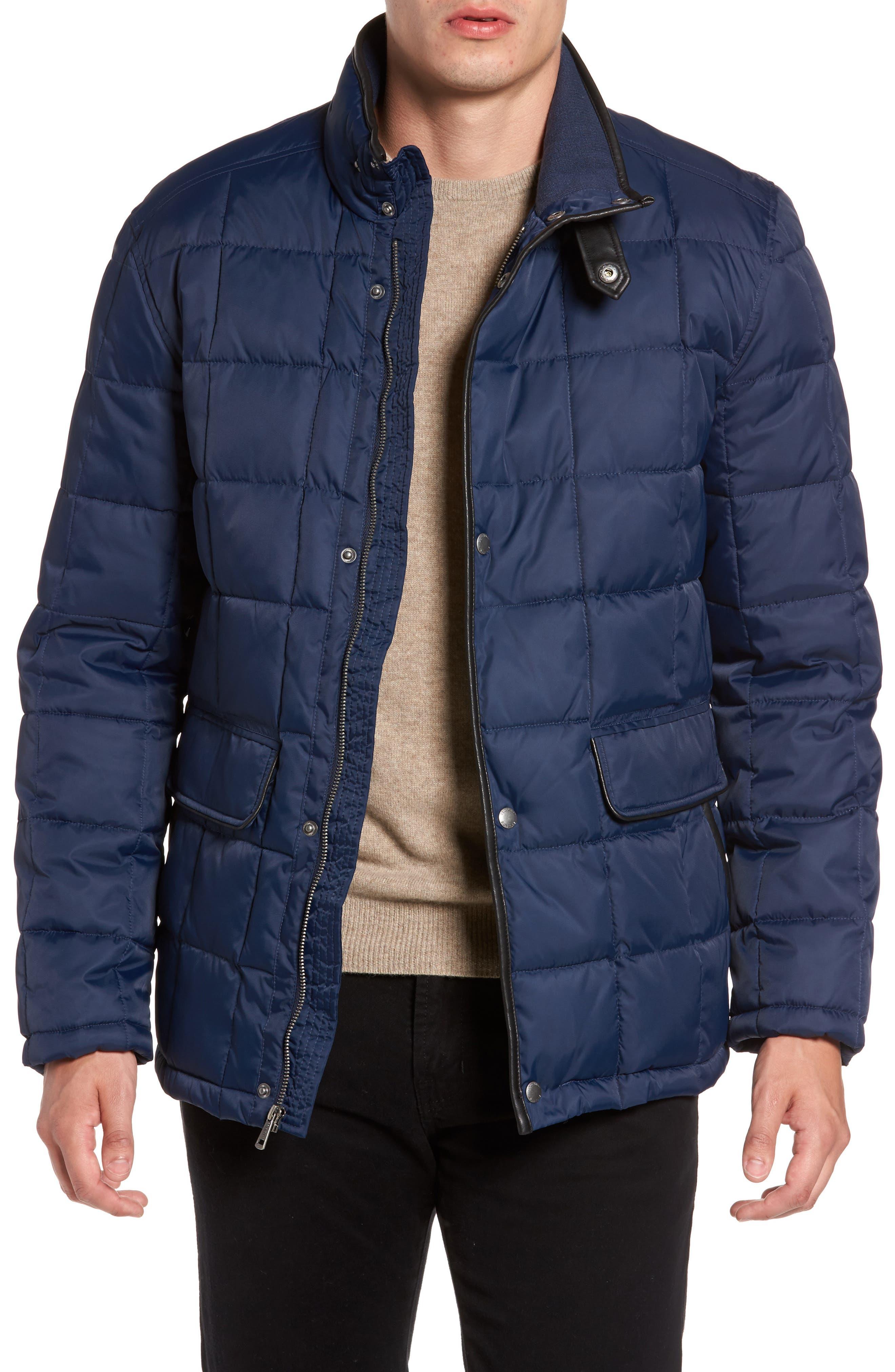 Box Quilted Jacket,                             Main thumbnail 1, color,                             NAVY