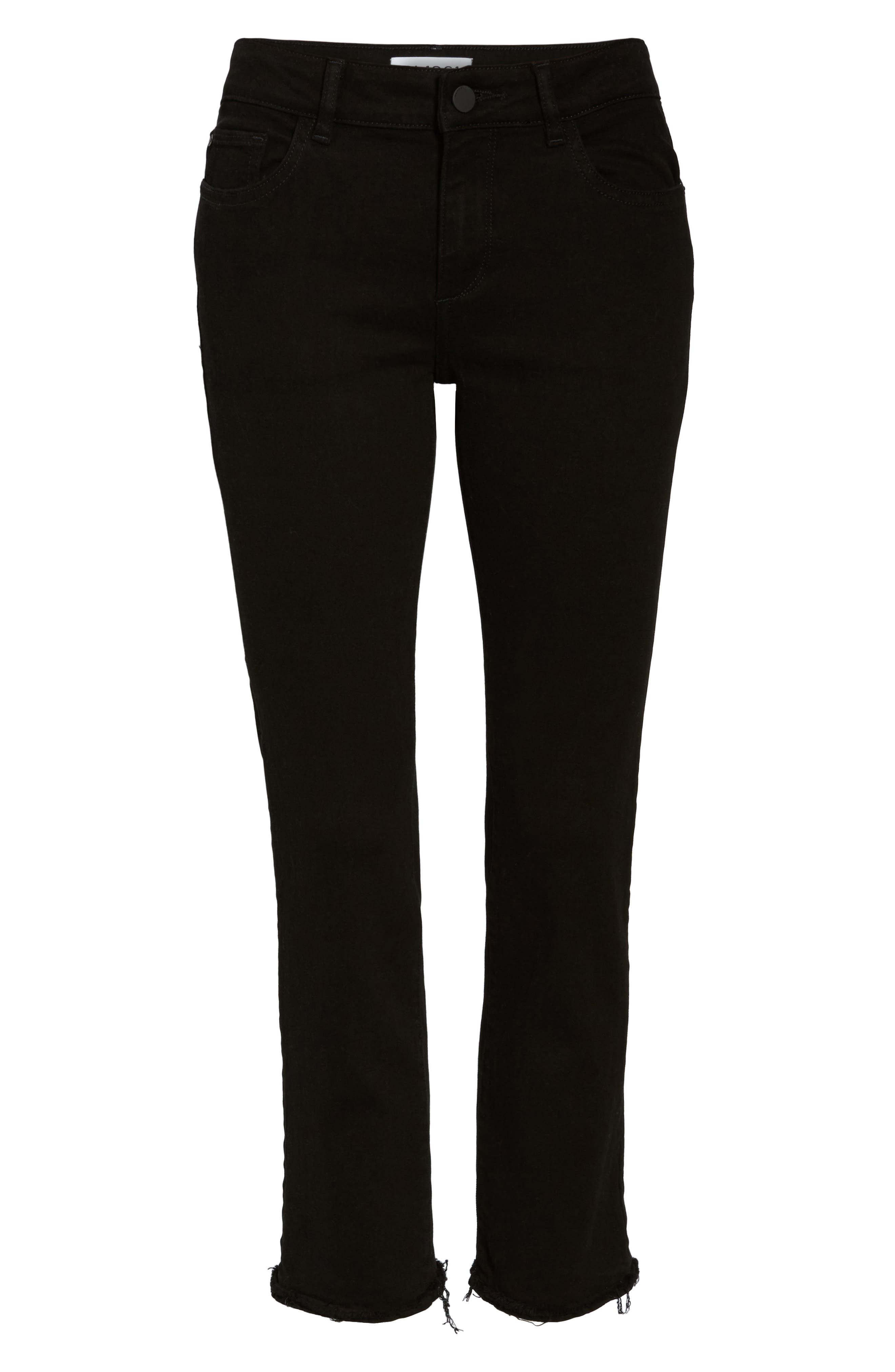 Mara Straight Leg Jeans,                             Alternate thumbnail 6, color,                             001