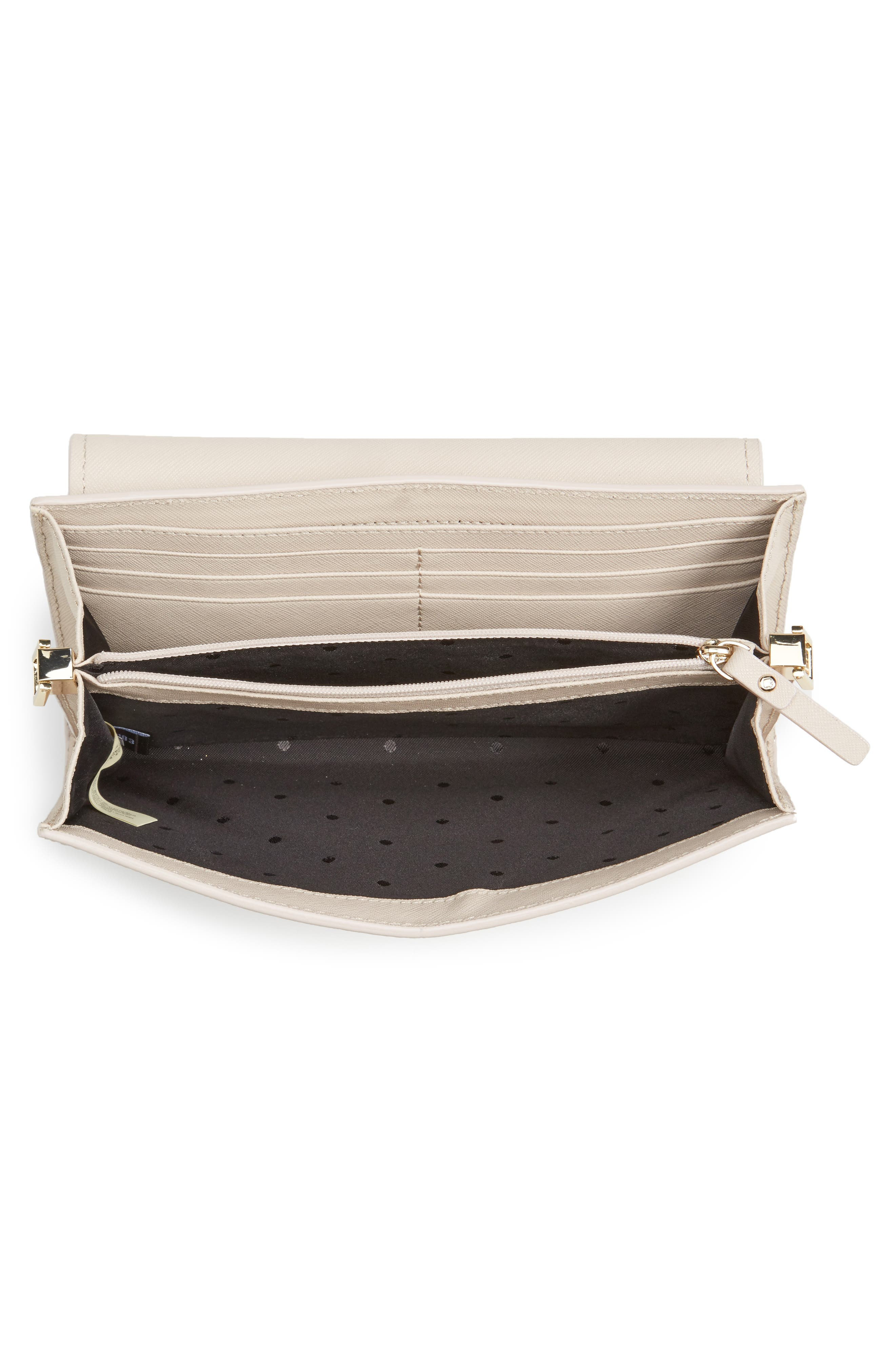 make it mine - camila leather clutch,                             Alternate thumbnail 8, color,