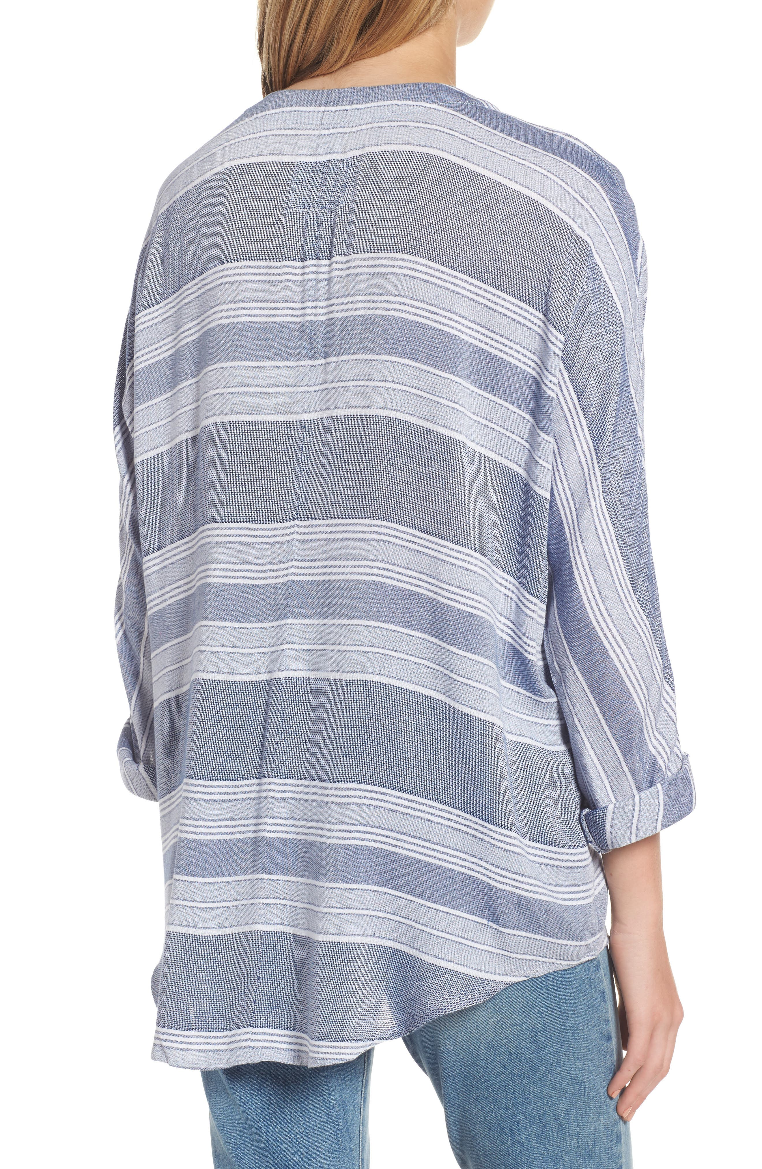 Lily Stripe Drawstring Top,                             Alternate thumbnail 2, color,                             451