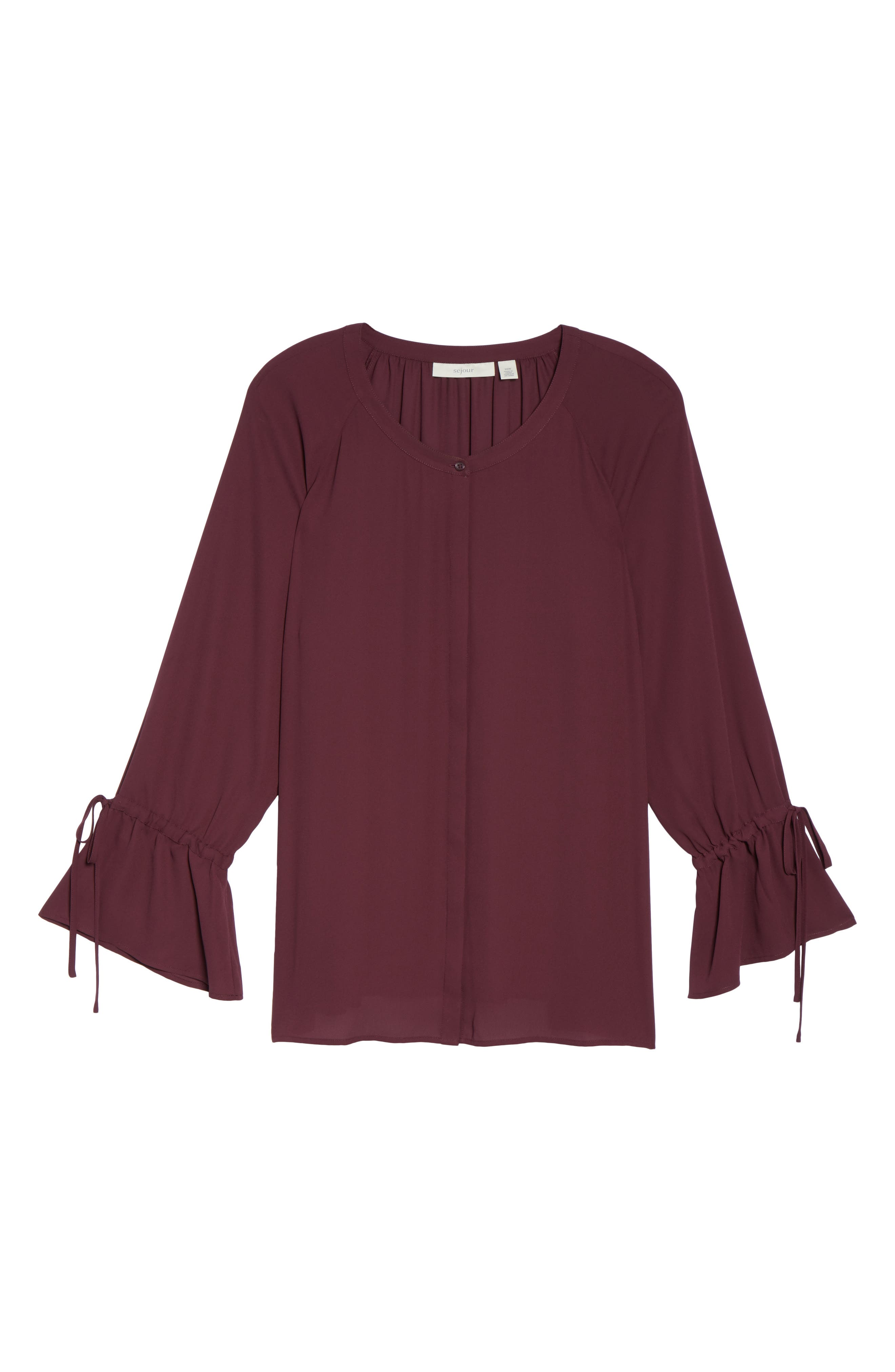 Tie Sleeve Blouse,                             Alternate thumbnail 24, color,