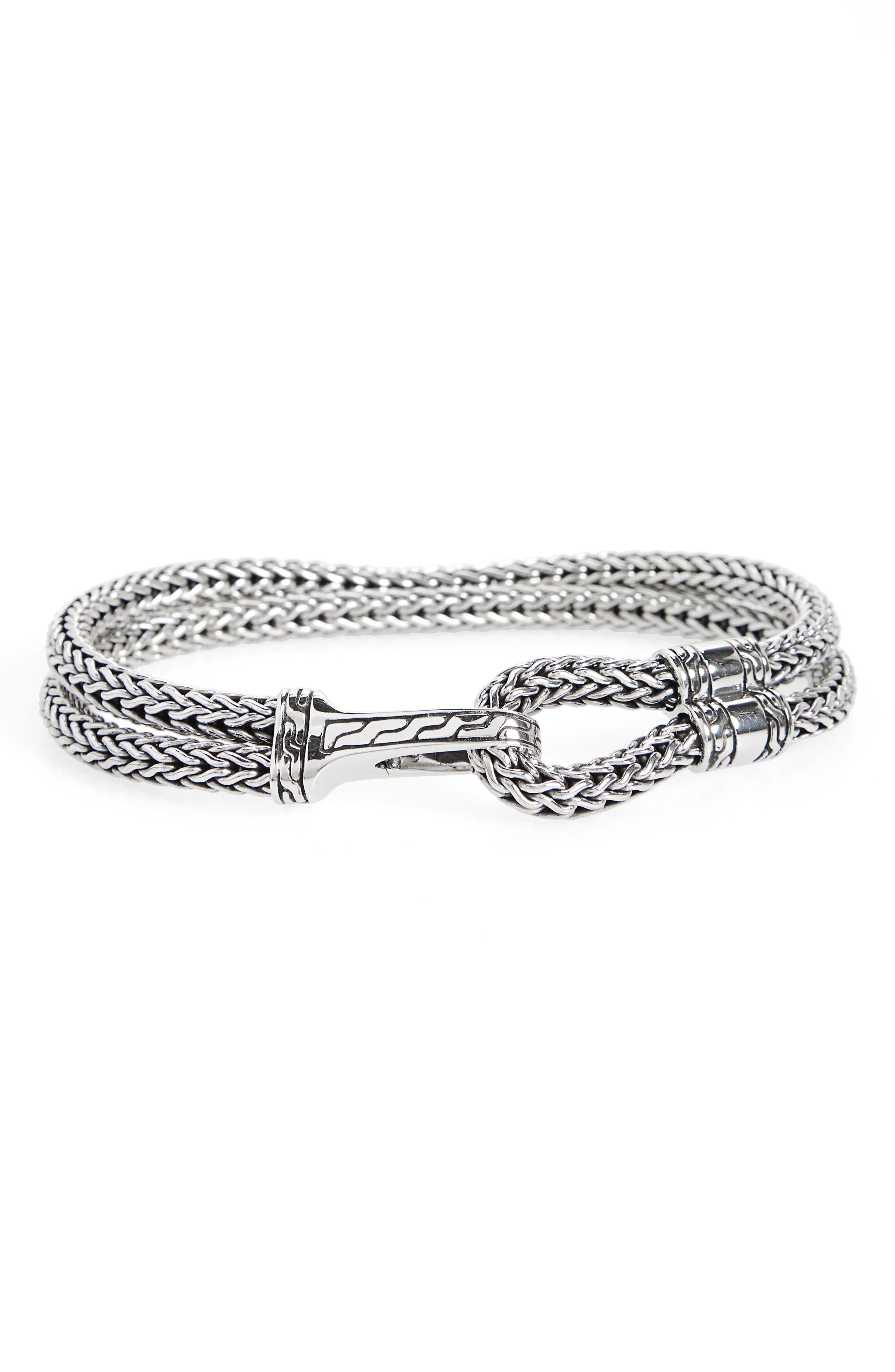 Classic Chain Station Bracelet,                             Main thumbnail 1, color,                             SILVER