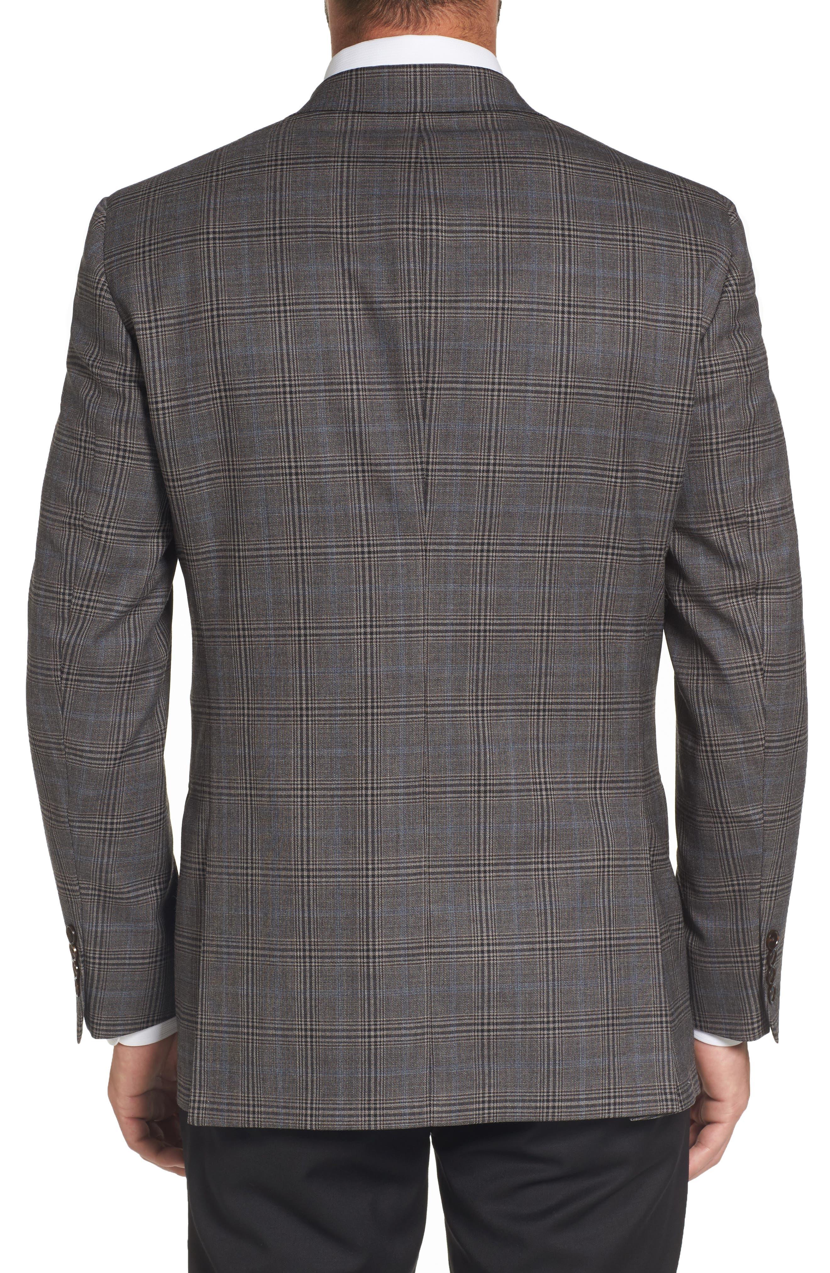 Classic Fit Plaid Stretch Wool Sport Coat,                             Alternate thumbnail 2, color,                             030