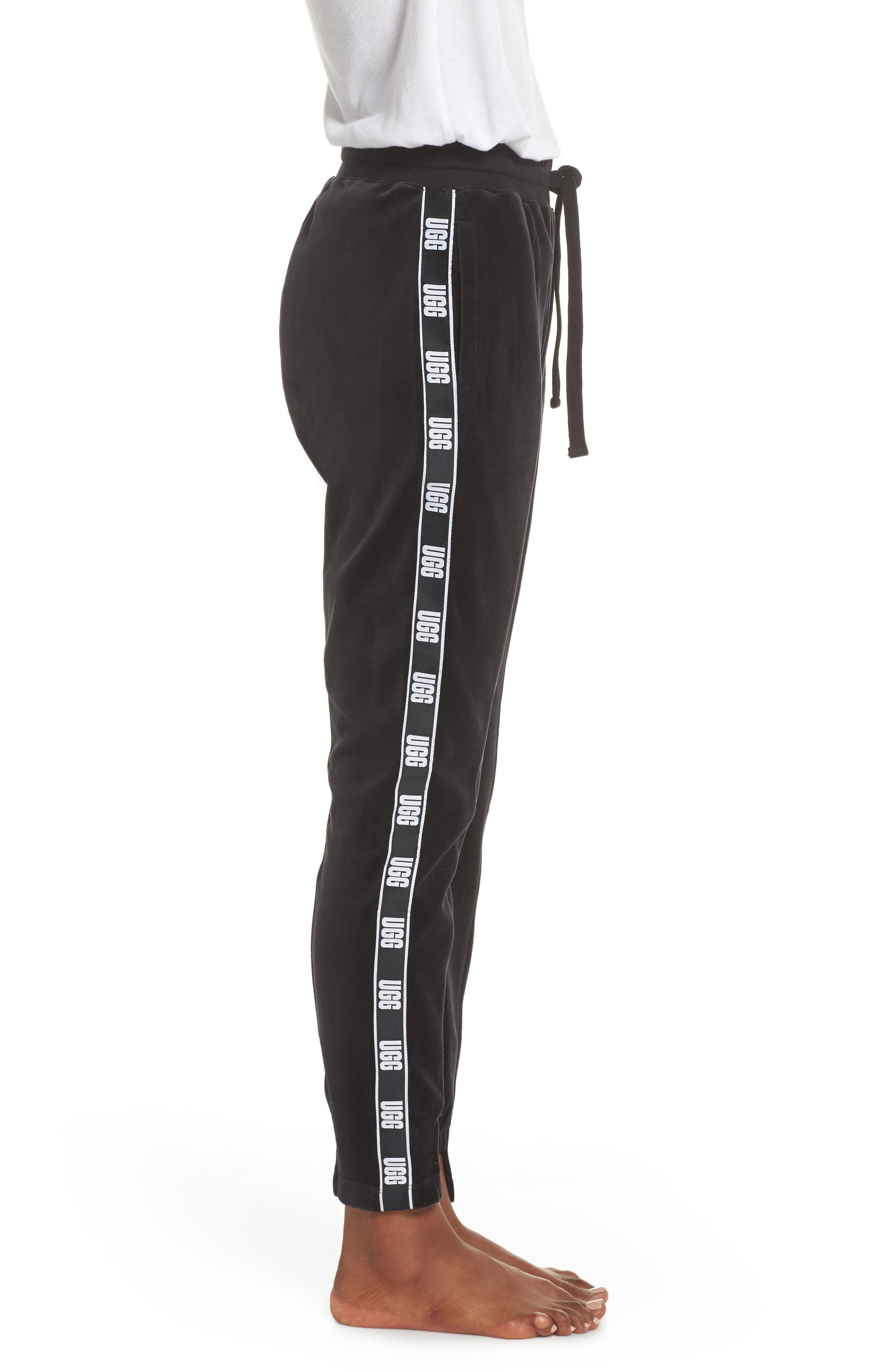 Iris Track Pants,                             Alternate thumbnail 3, color,                             BLACK