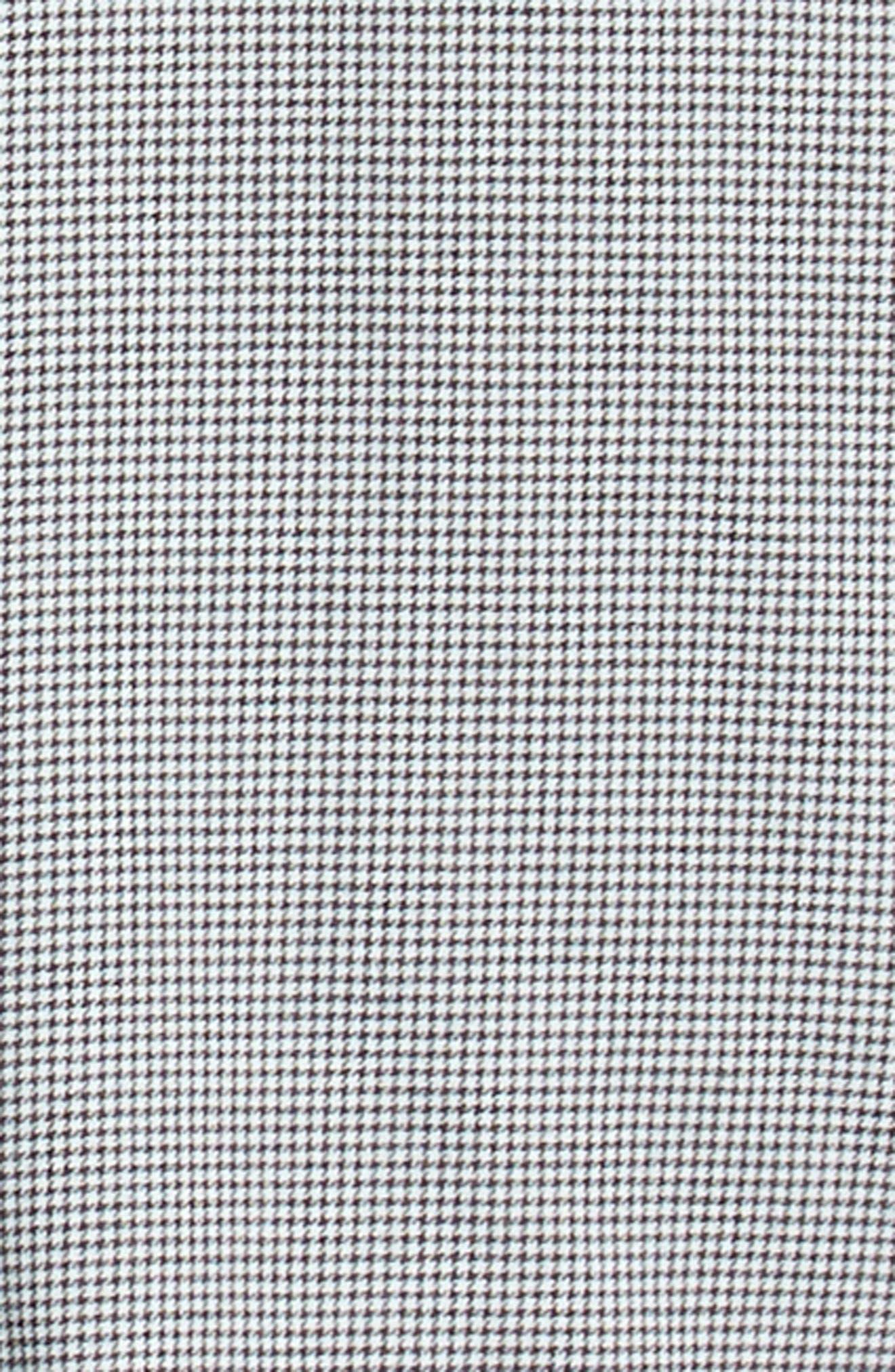 Trim Fit Houndstooth Flannel Sport Shirt,                             Alternate thumbnail 6, color,                             010