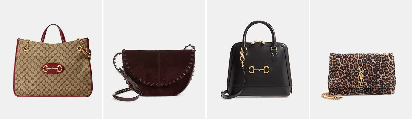 Women's designer handbags.