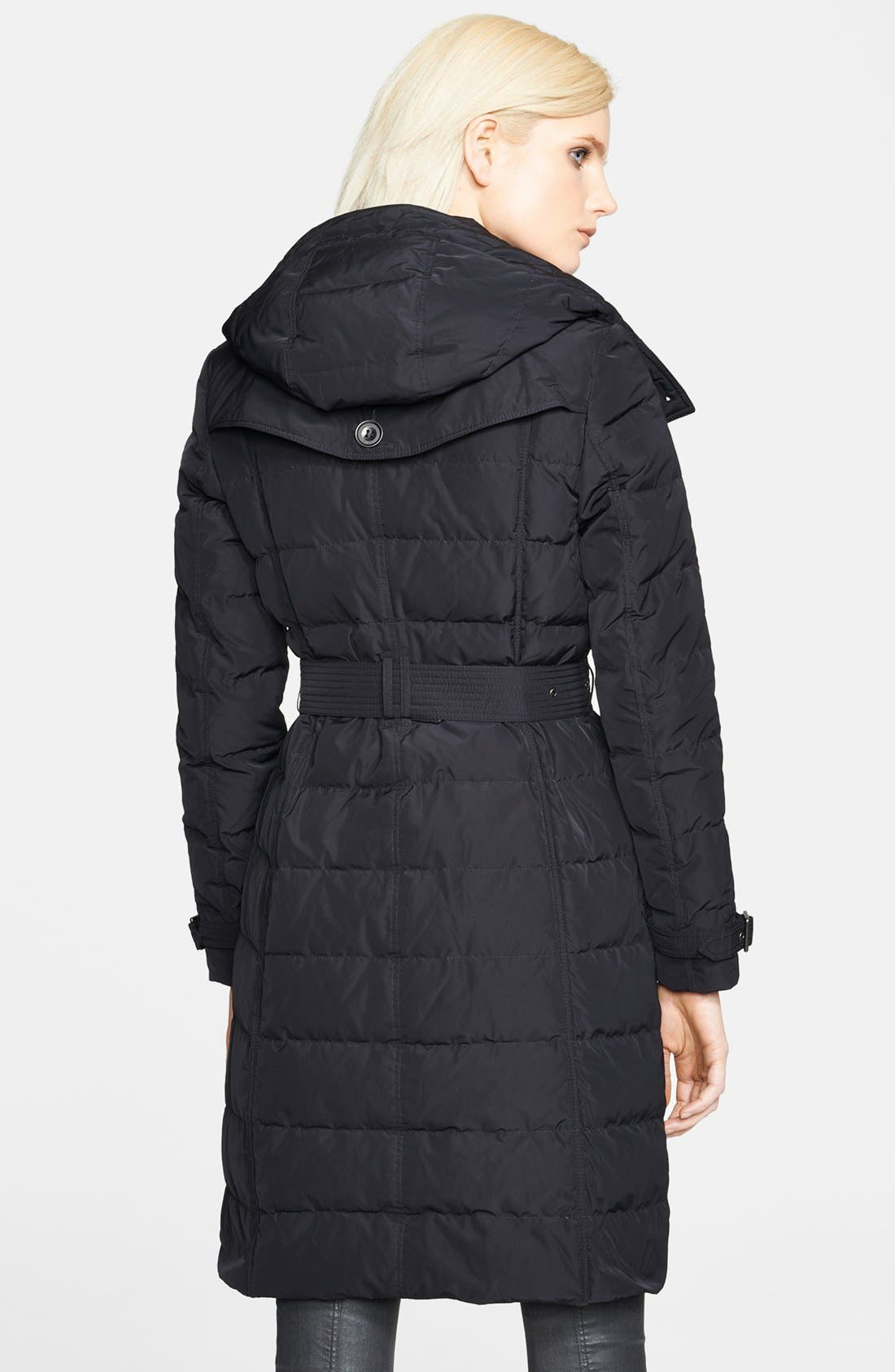 'Allerdale' Belted Down Jacket,                             Alternate thumbnail 3, color,                             001