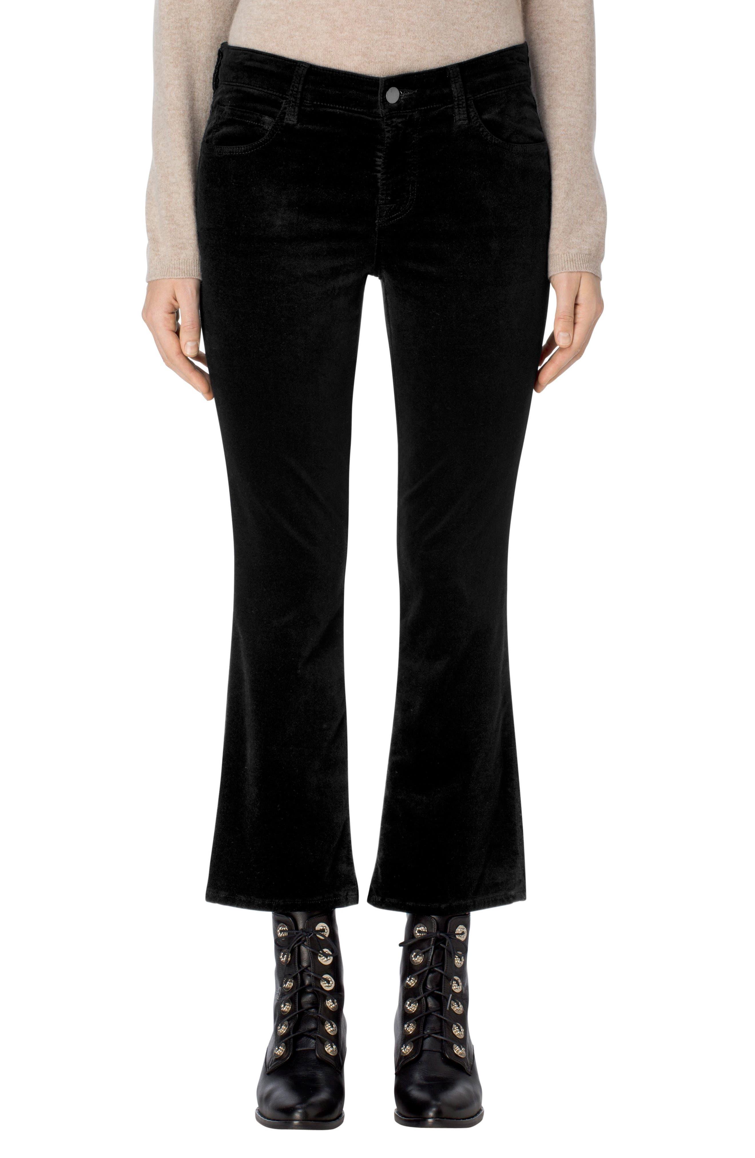 Selena Crop Bootcut Jeans,                             Main thumbnail 1, color,                             001