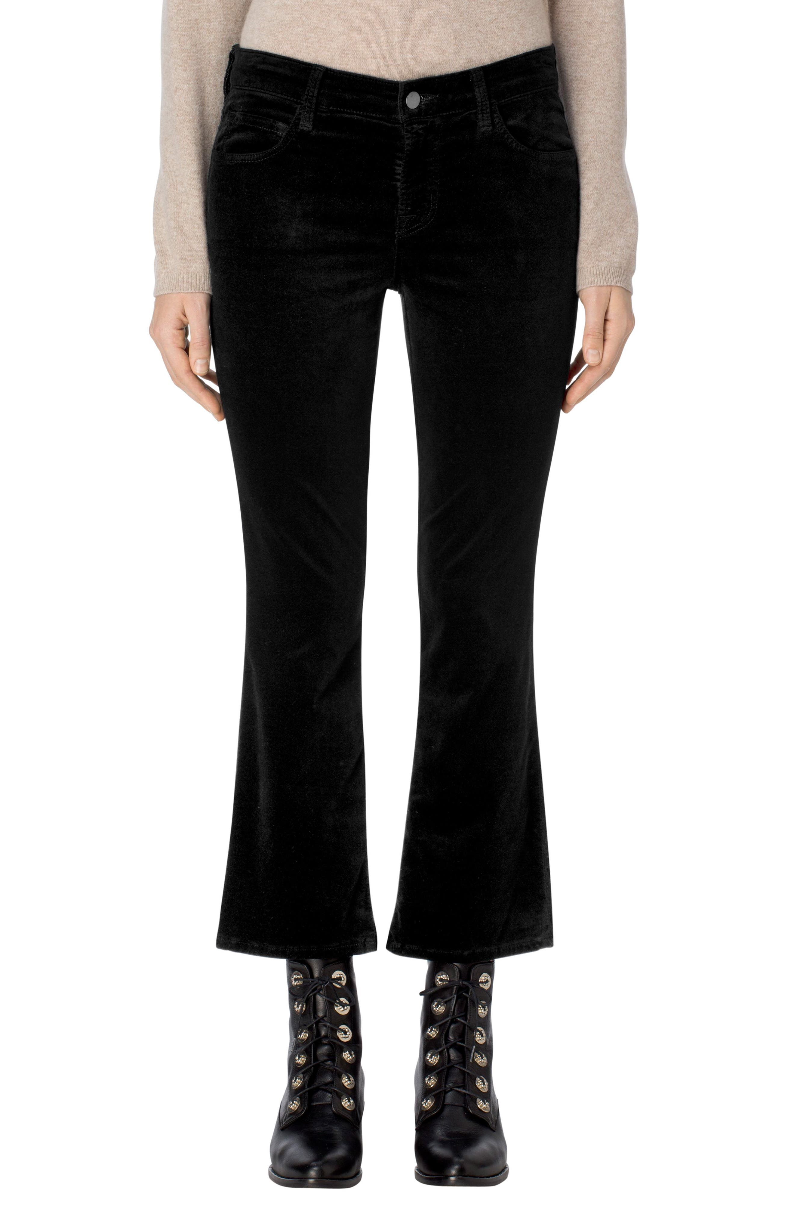 Selena Crop Bootcut Jeans,                         Main,                         color, 001