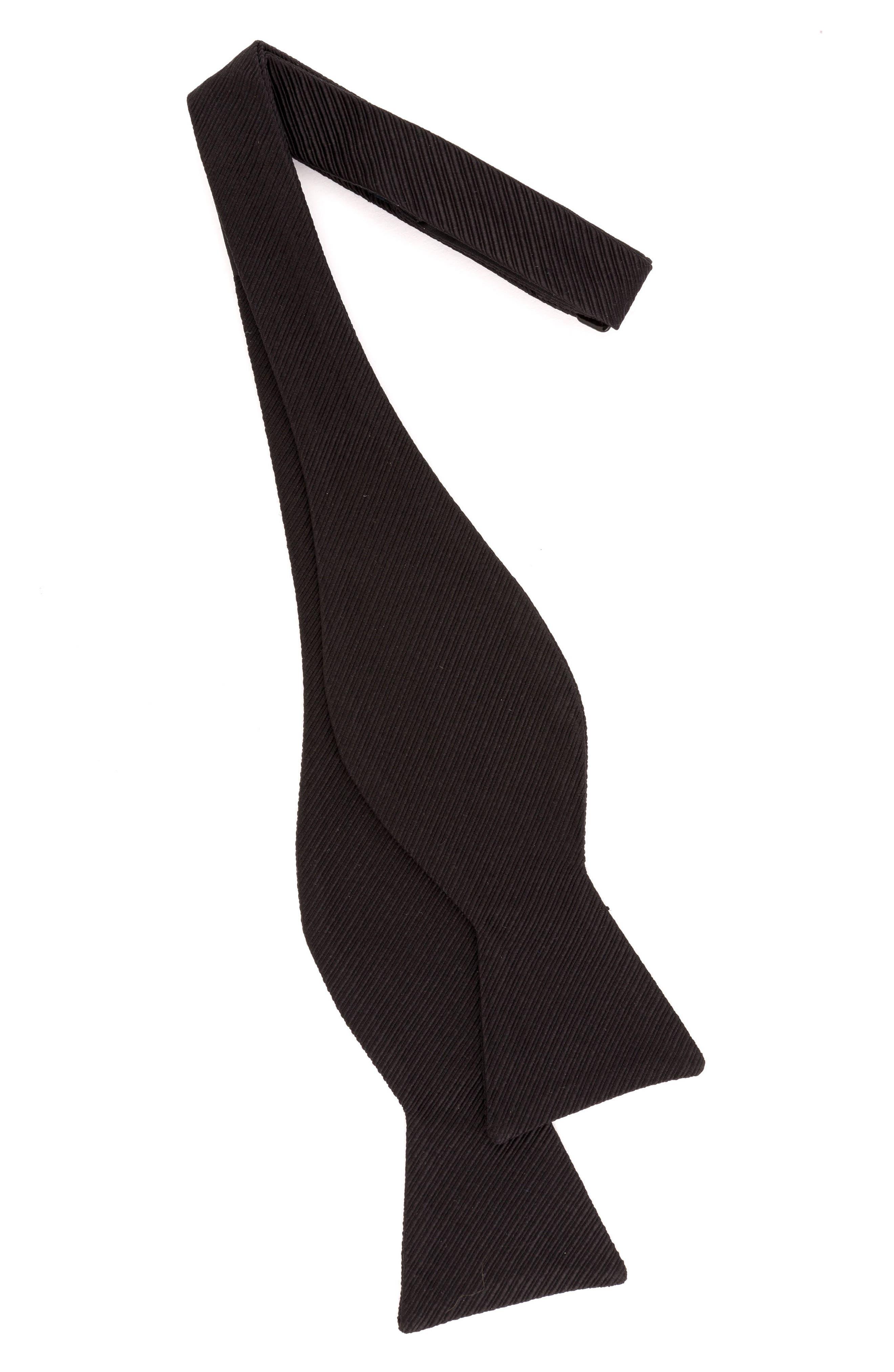 Fancy Silk & Cotton Bow Tie,                             Alternate thumbnail 2, color,                             001