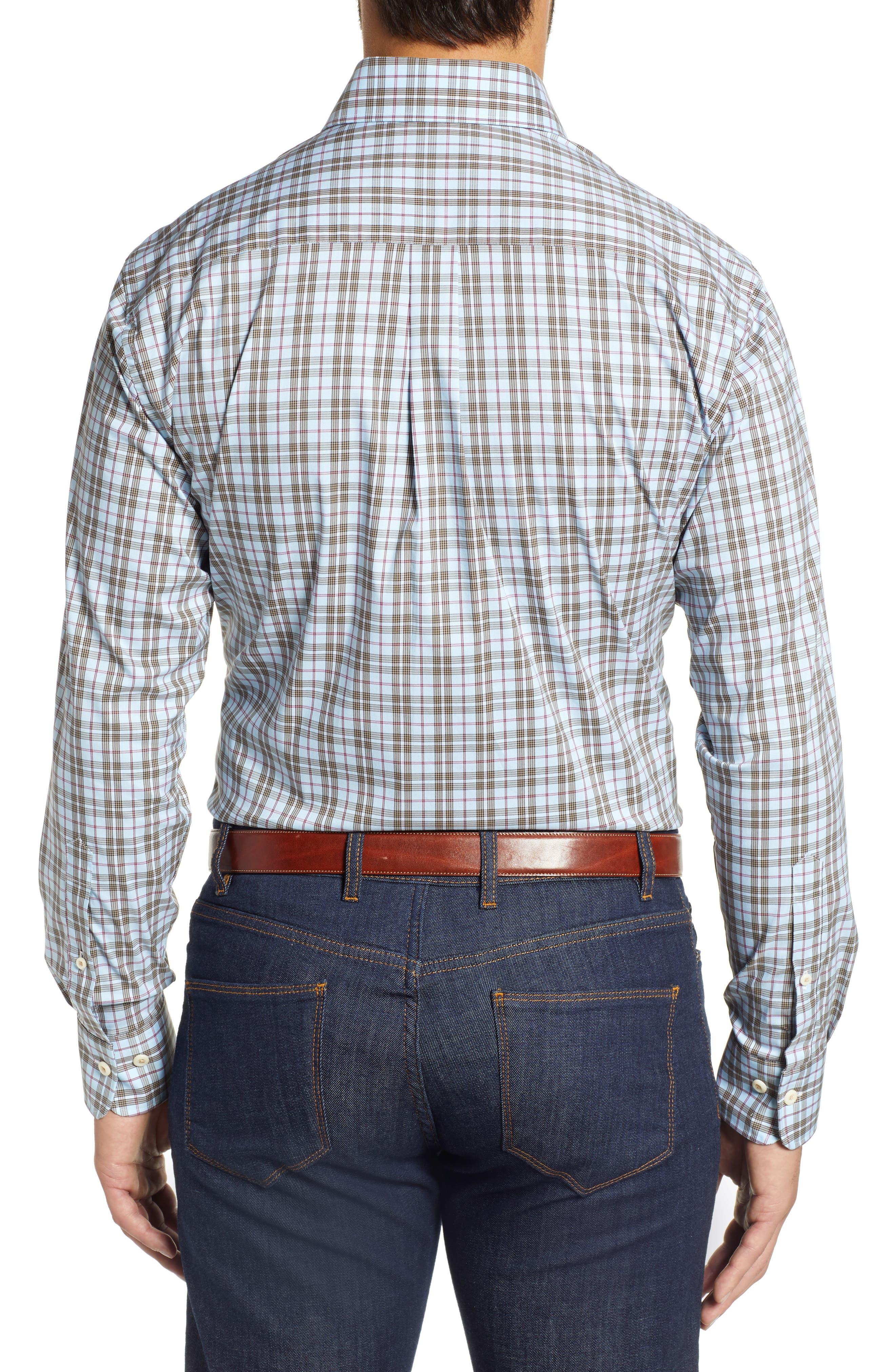 Crown Comfort Hazel Glen Regular Fit Sport Shirt,                             Alternate thumbnail 3, color,                             477