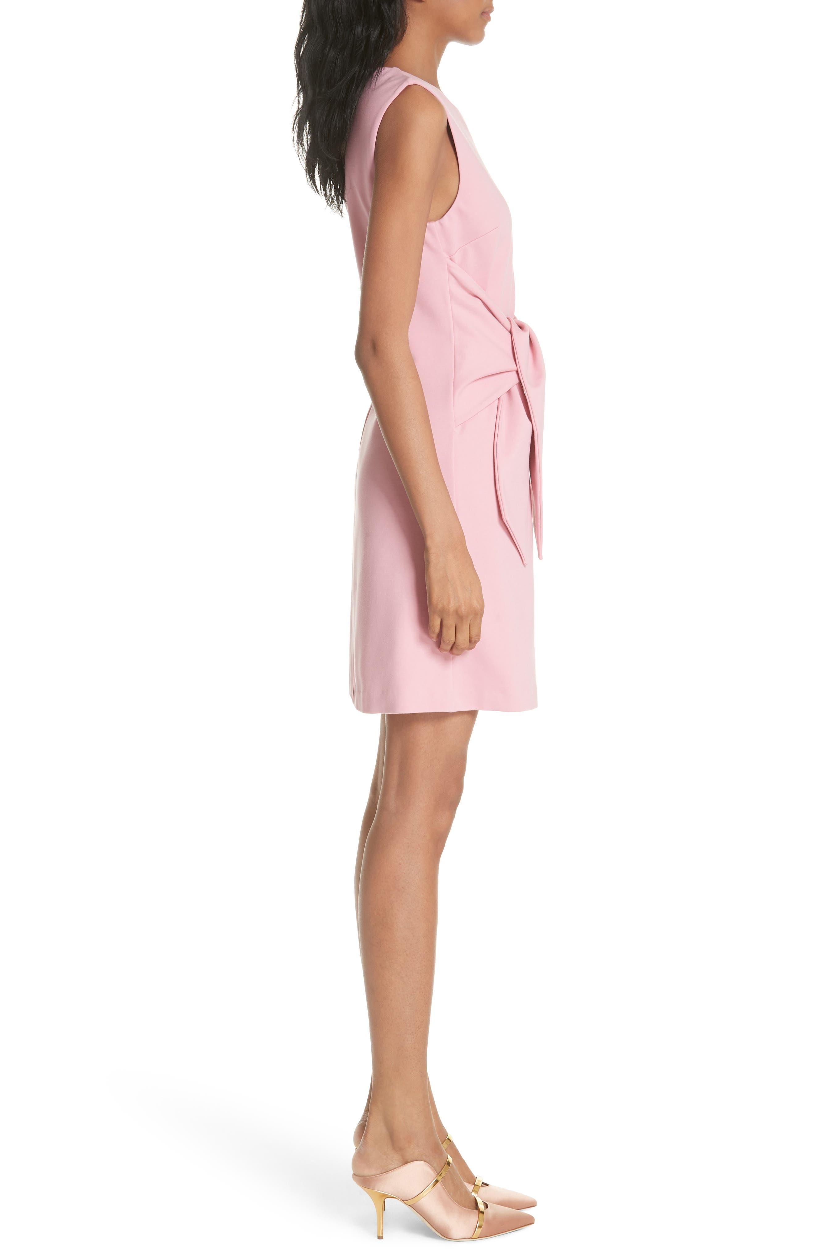 Papron Tie Front Dress,                             Alternate thumbnail 3, color,                             PINK