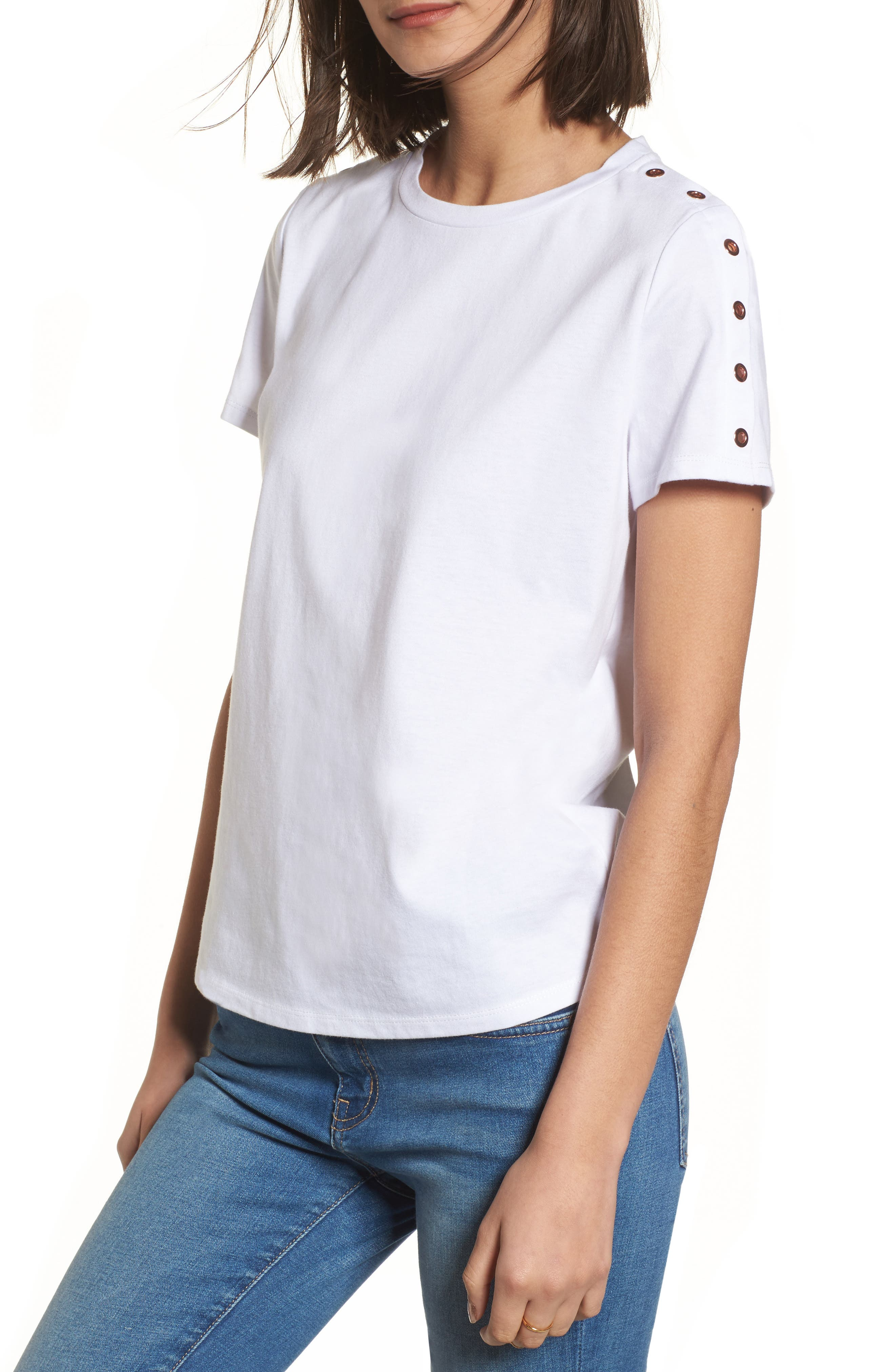 Grommet Detail Tee,                         Main,                         color,