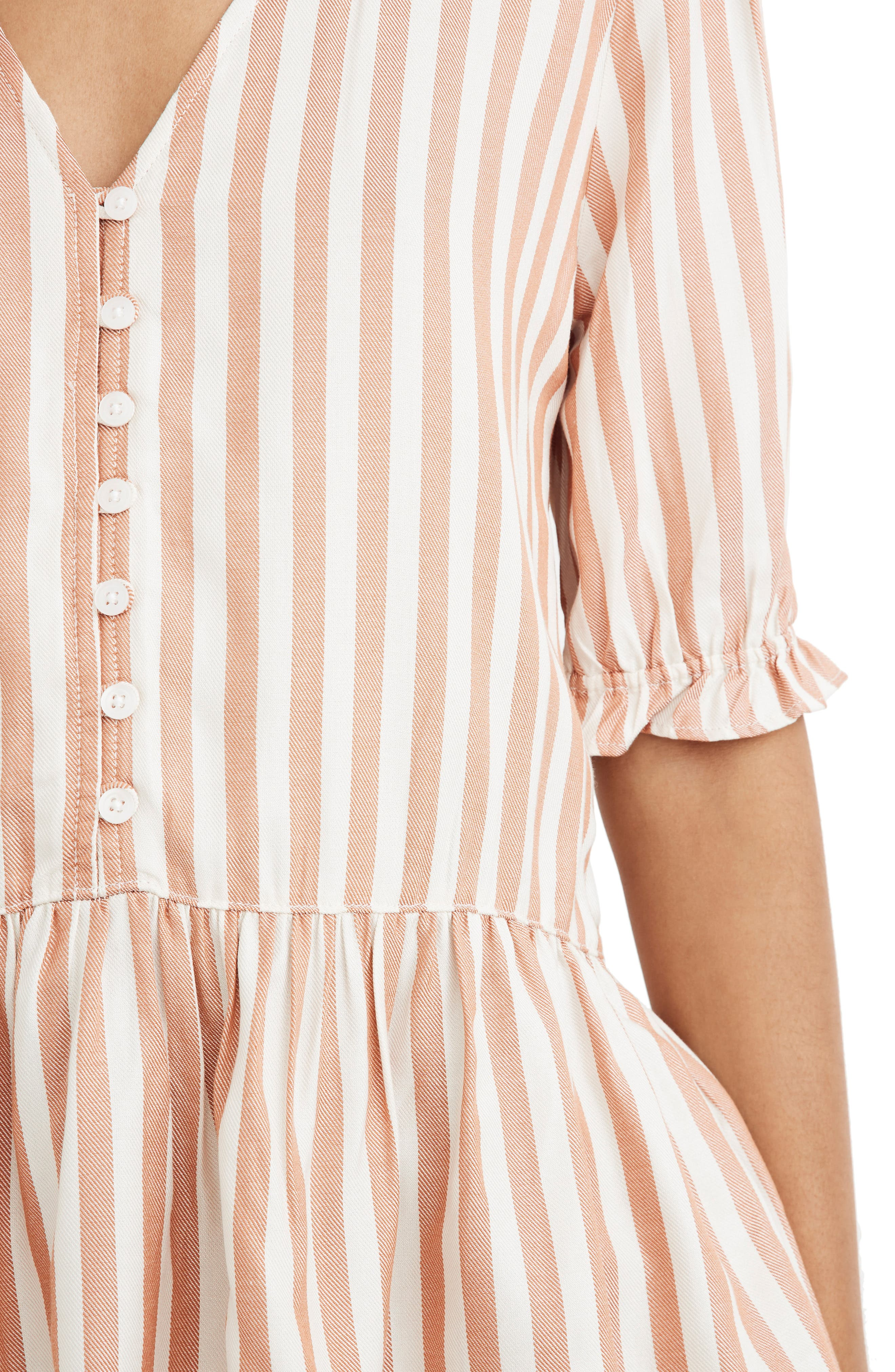 MADEWELL,                             Courtyard Ruffle Hem Top,                             Alternate thumbnail 4, color,                             STRIPE