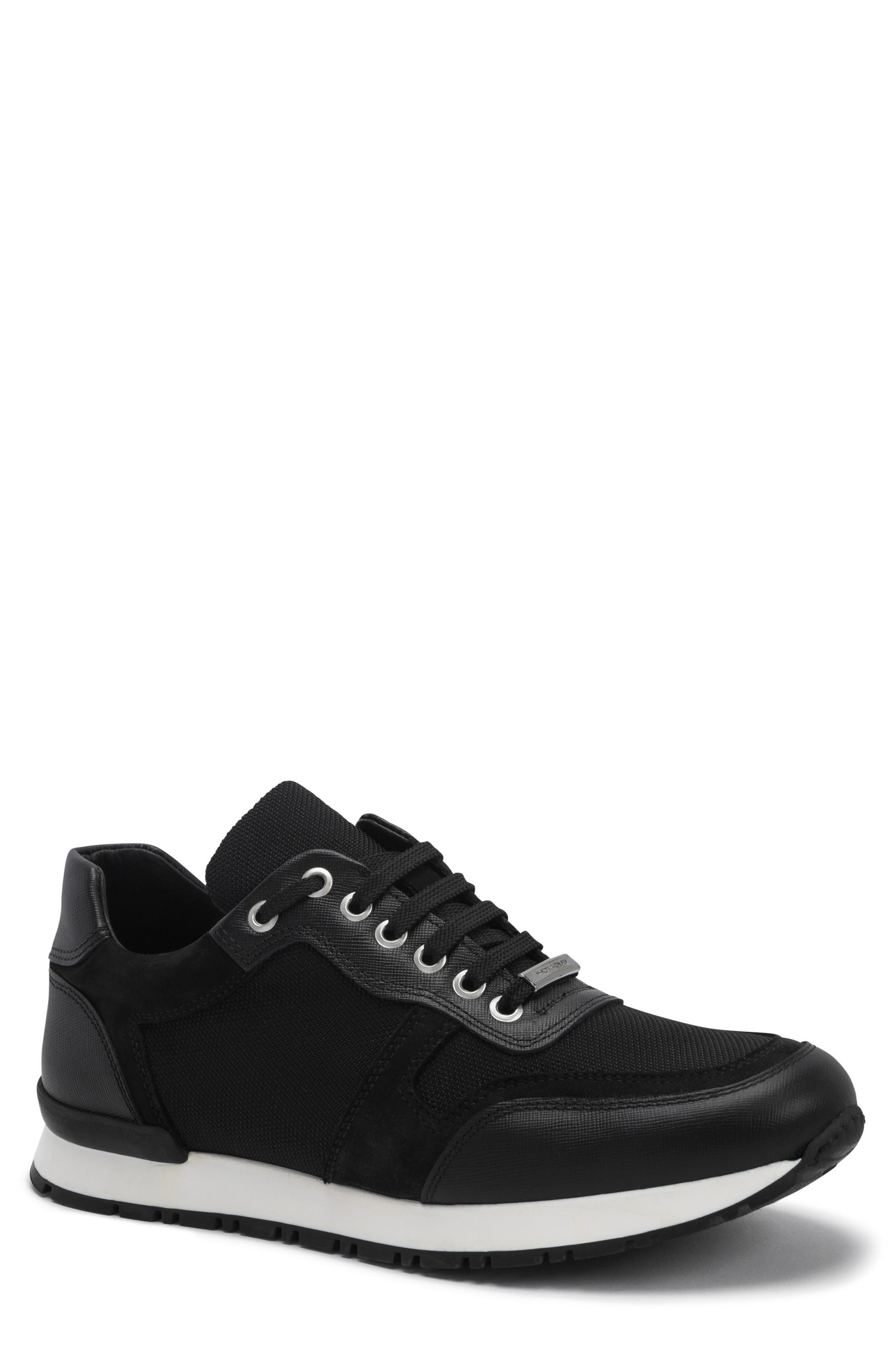 men's bugatchi modena sneaker, size 11 m - black