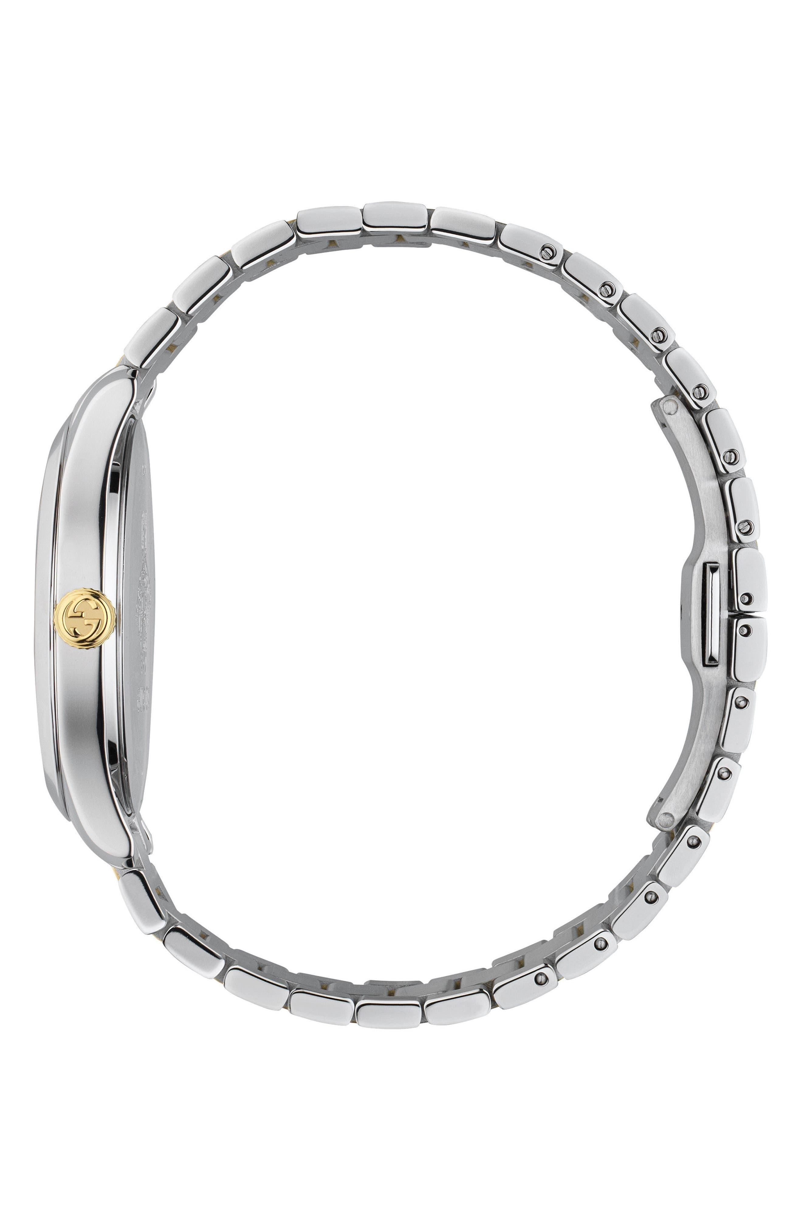 G-Timeless Bracelet Watch, 38mm,                             Alternate thumbnail 3, color,                             SILVER/ GOLD