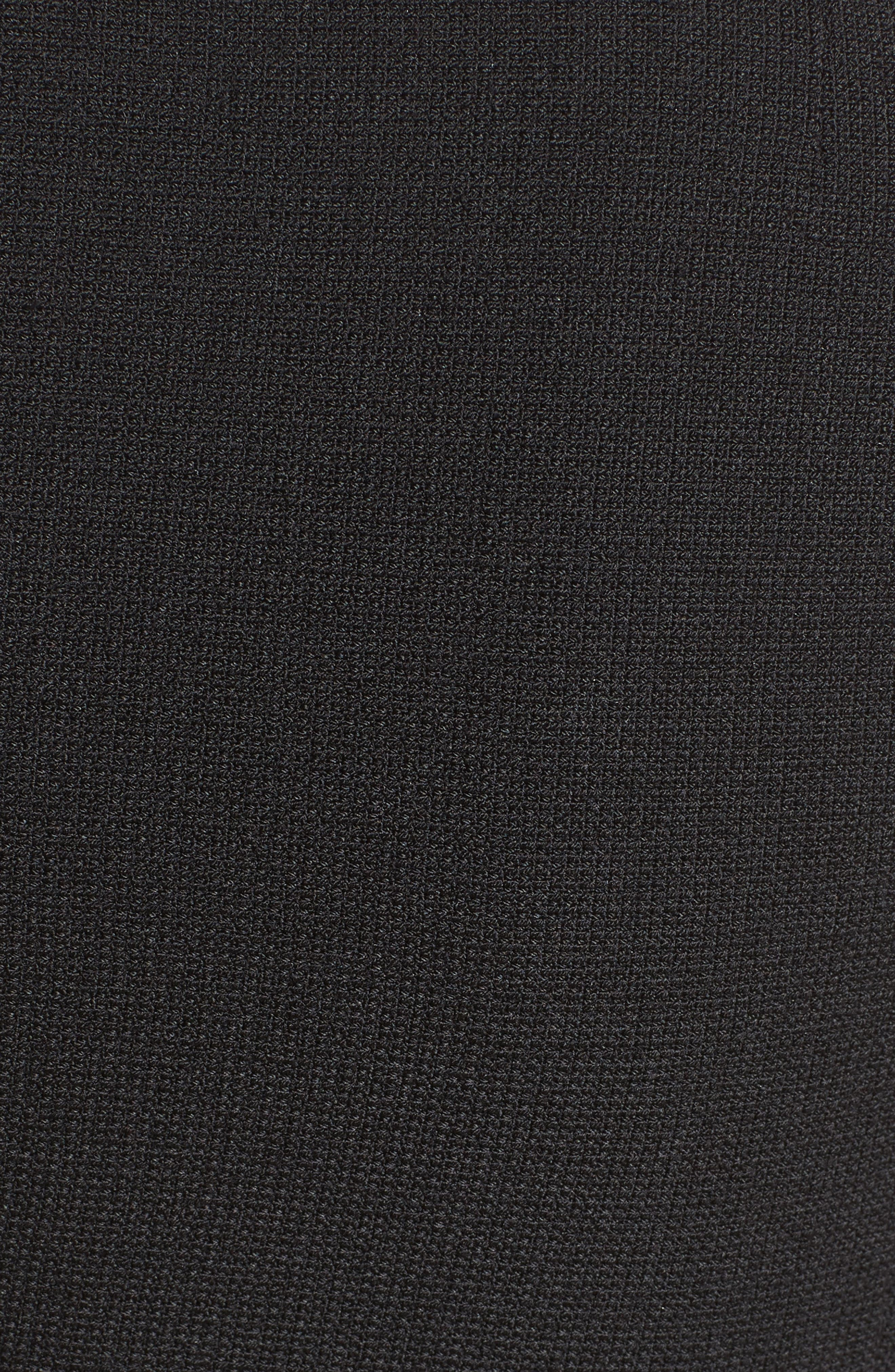 Bow Detail Fit & Flare Dress,                             Alternate thumbnail 6, color,                             001
