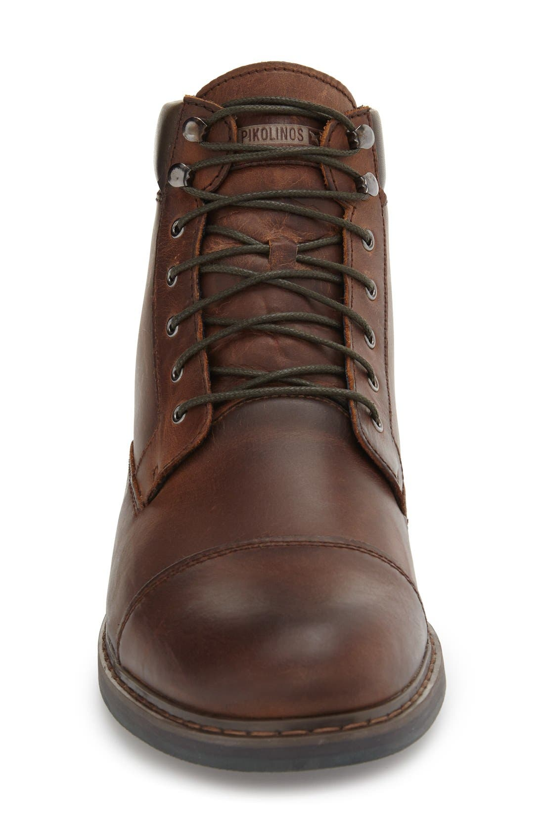 'Cacers' Lace-Up Zip Boot,                             Alternate thumbnail 8, color,