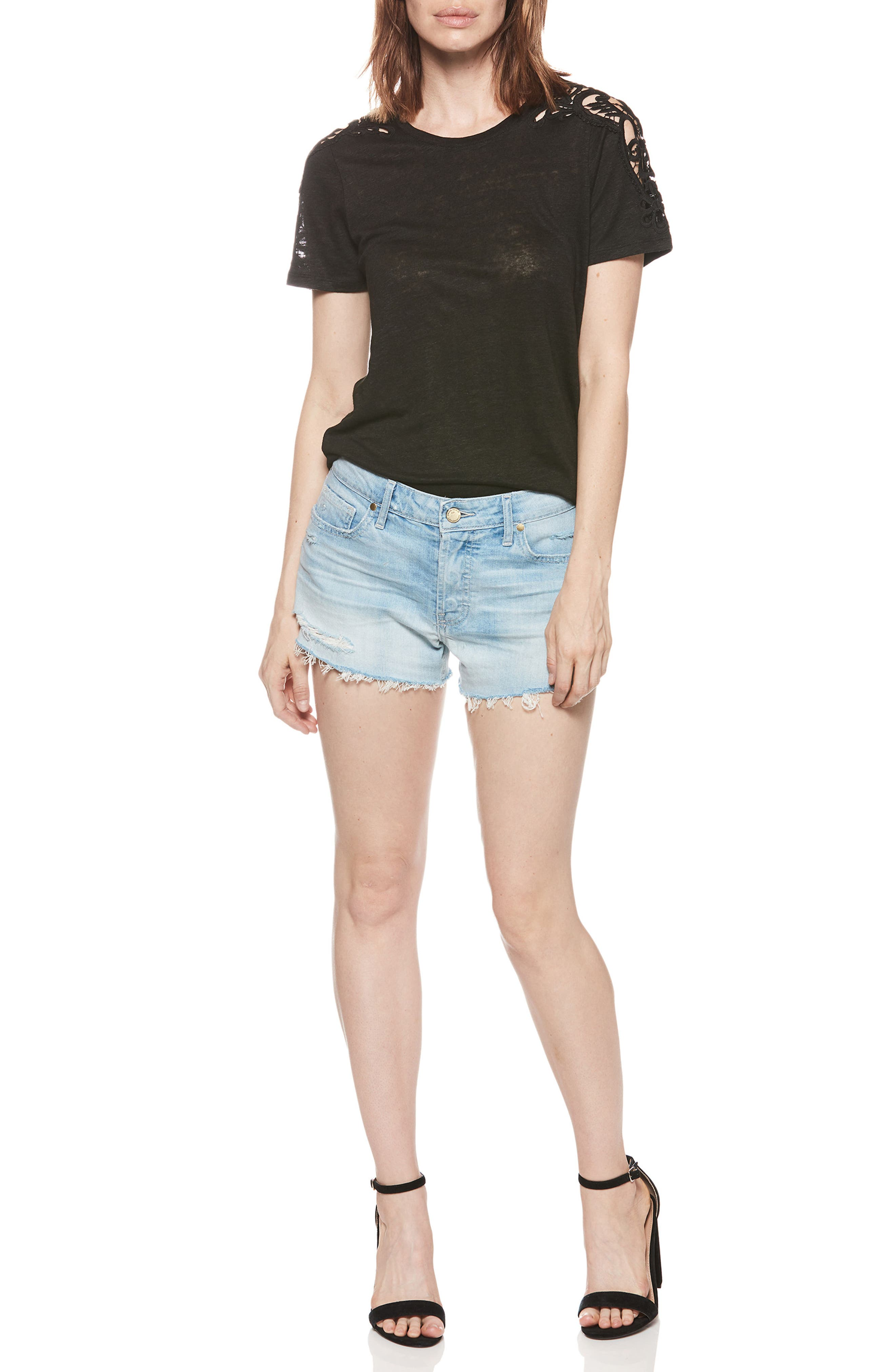 PAIGE,                             Emmit Relaxed Denim Shorts,                             Alternate thumbnail 3, color,                             400