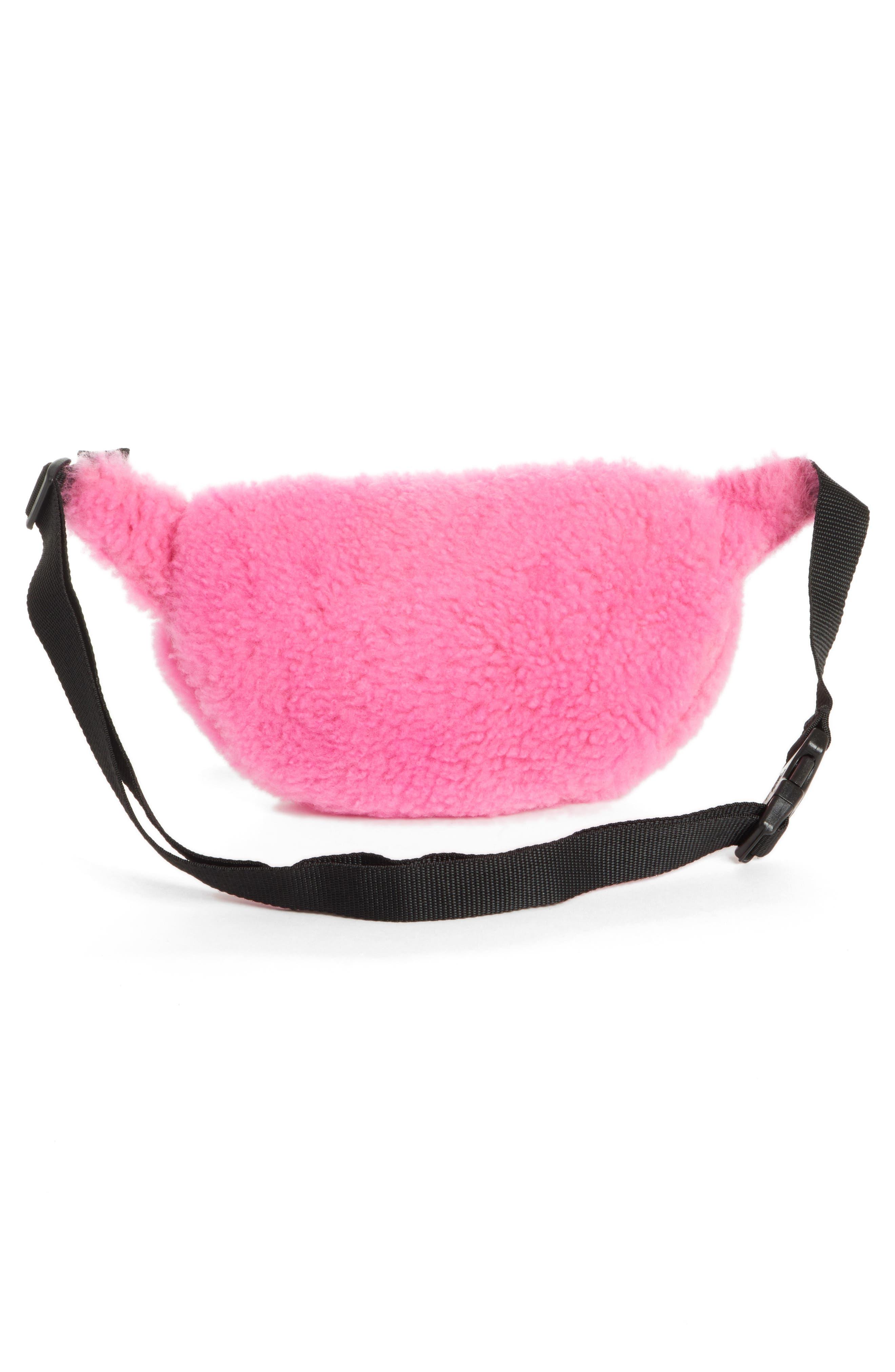 Genuine Shearling Belt Bag,                             Alternate thumbnail 3, color,                             650