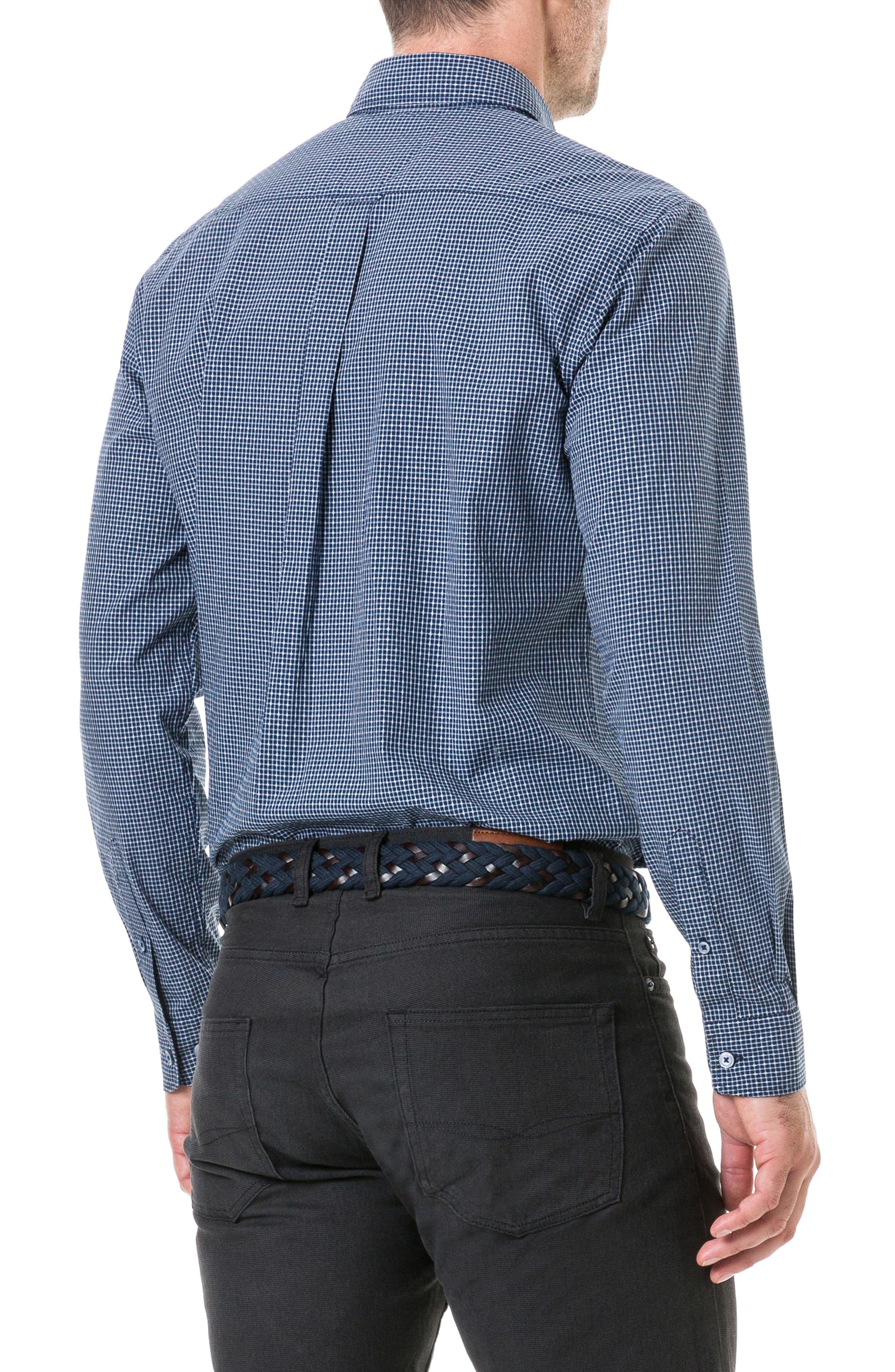 Wingrove Regular Fit Sport Shirt,                             Alternate thumbnail 2, color,                             MIDNIGHT