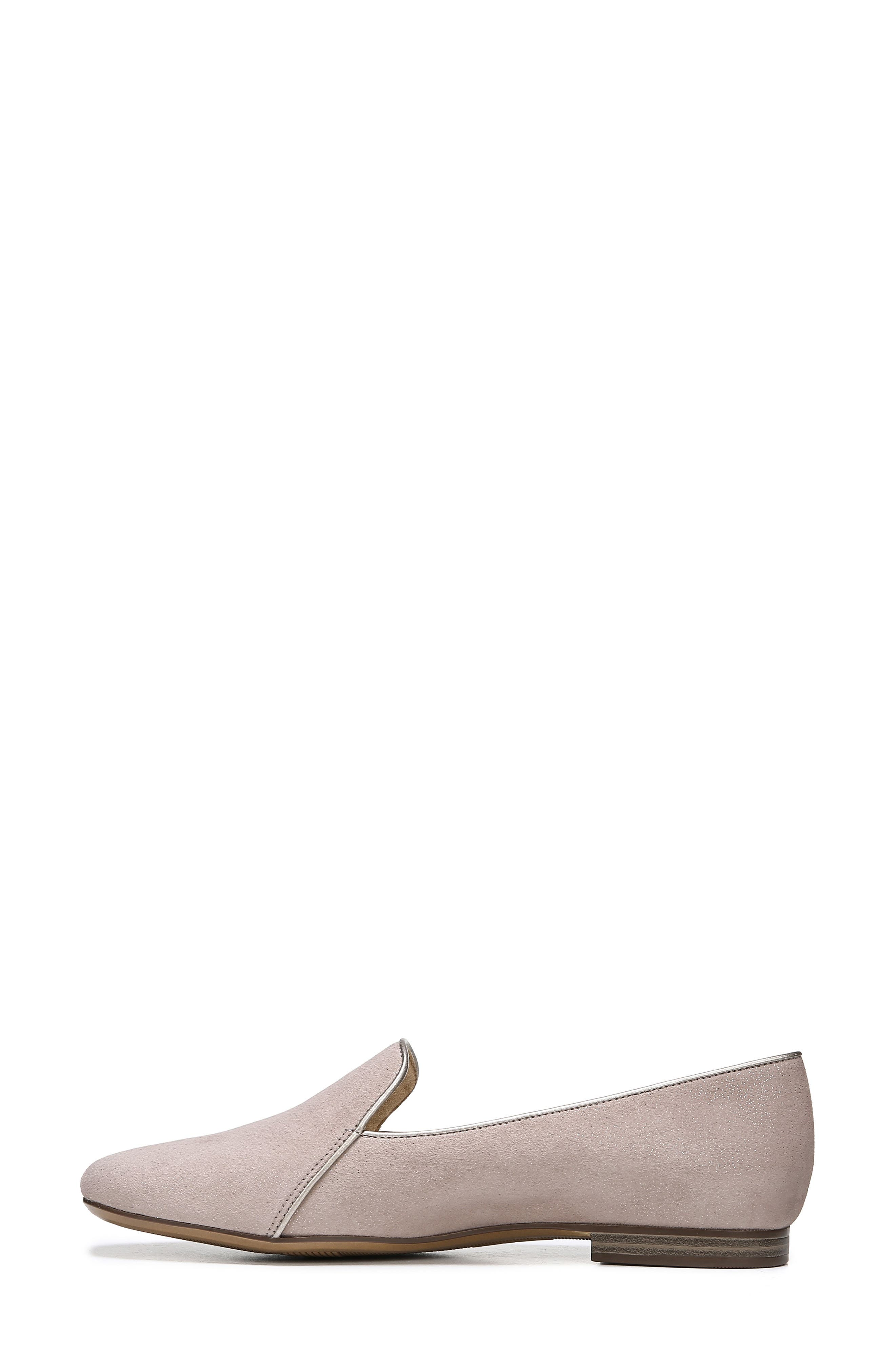 Emiline 2 Loafer,                             Alternate thumbnail 8, color,                             TAUPE GLITTER DUST SUEDE