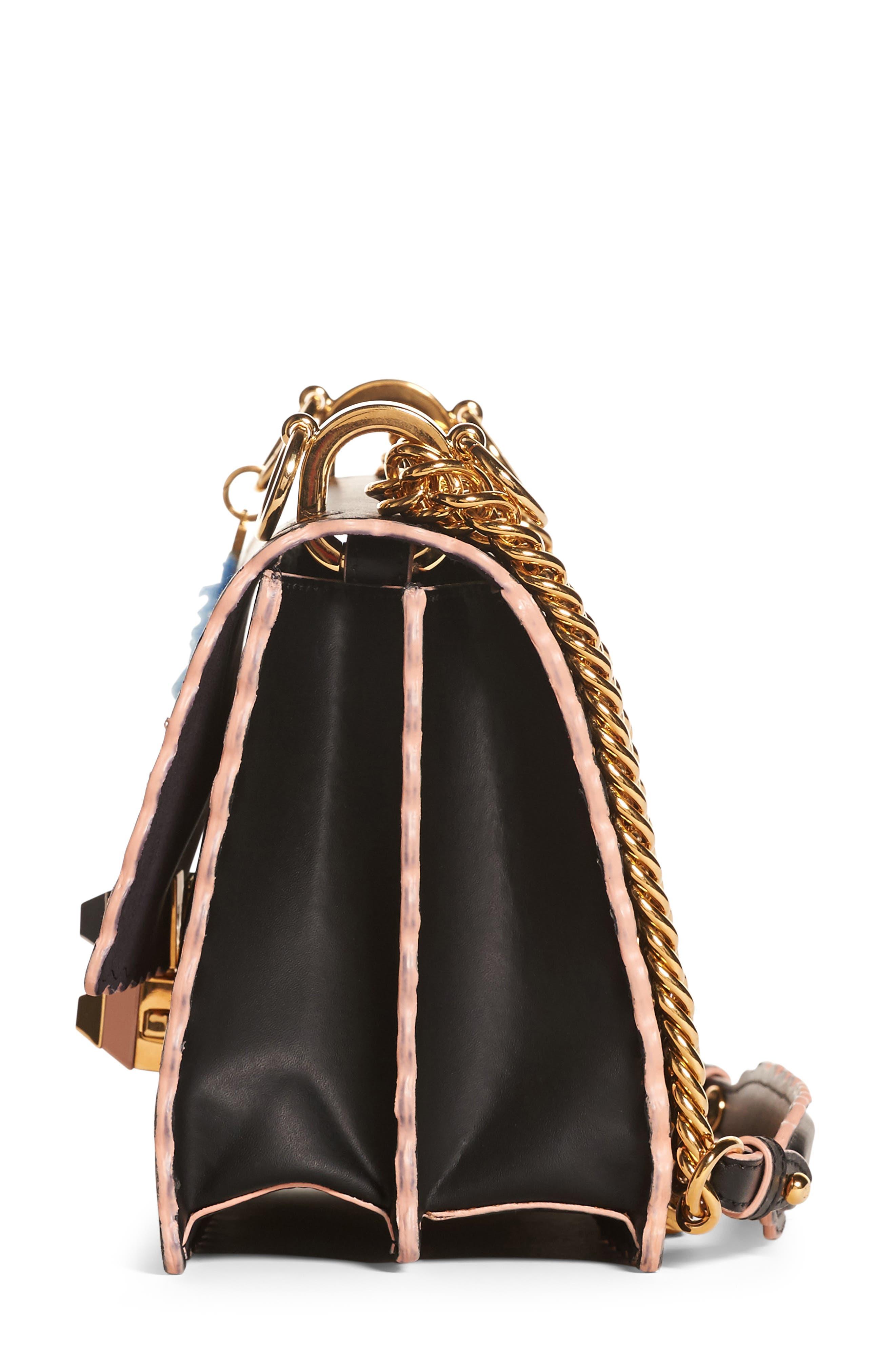 Small Kan I Scallop Leather Shoulder Bag,                             Alternate thumbnail 8, color,