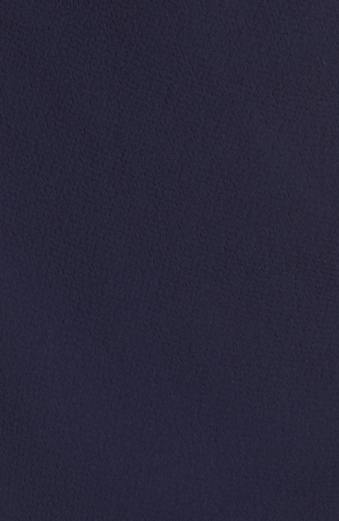 Pebble Crepe Off the Shoulder Gown,                             Alternate thumbnail 5, color,