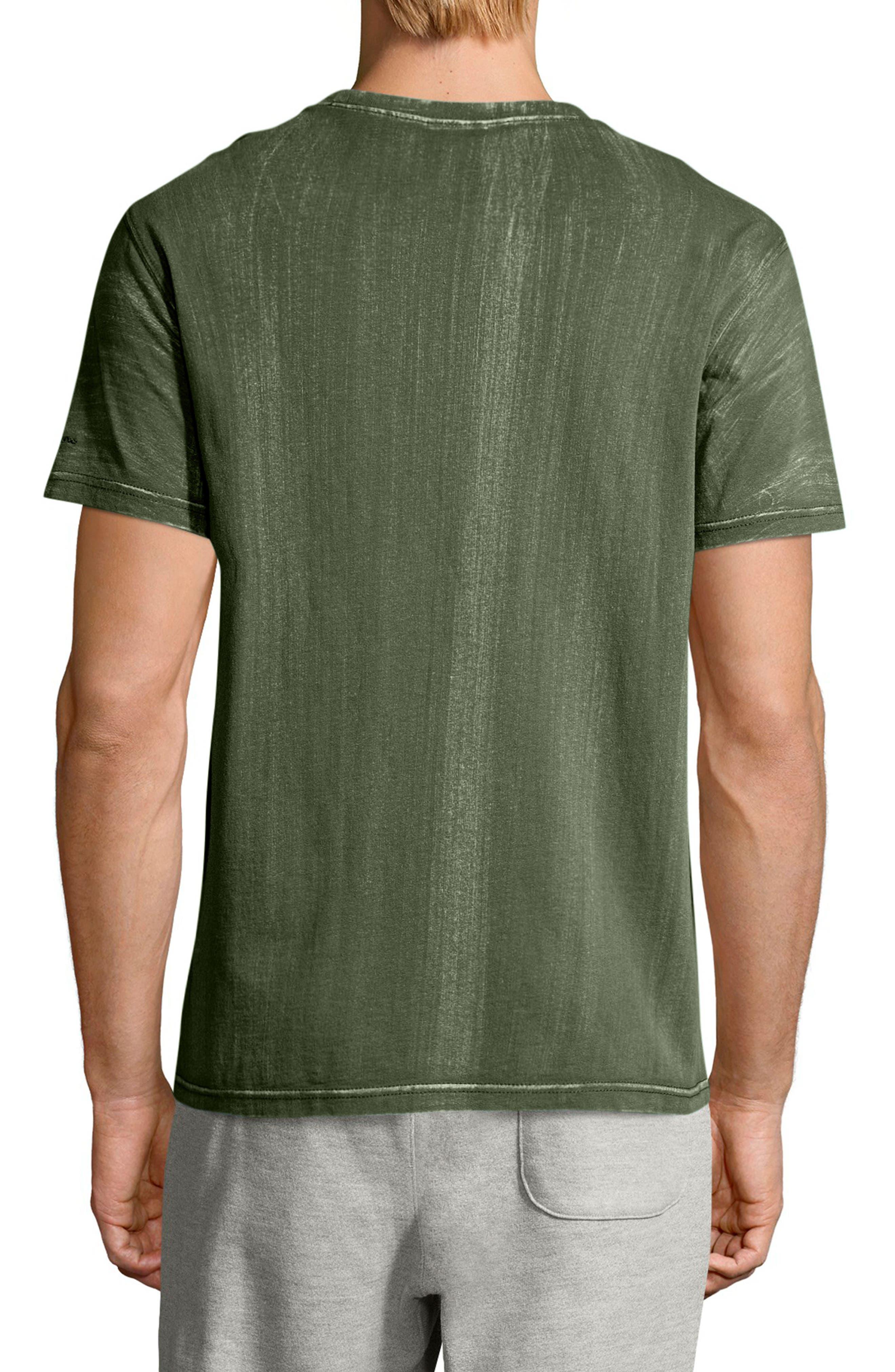 Bleached Wash Crewneck Cotton T-Shirt,                             Alternate thumbnail 4, color,