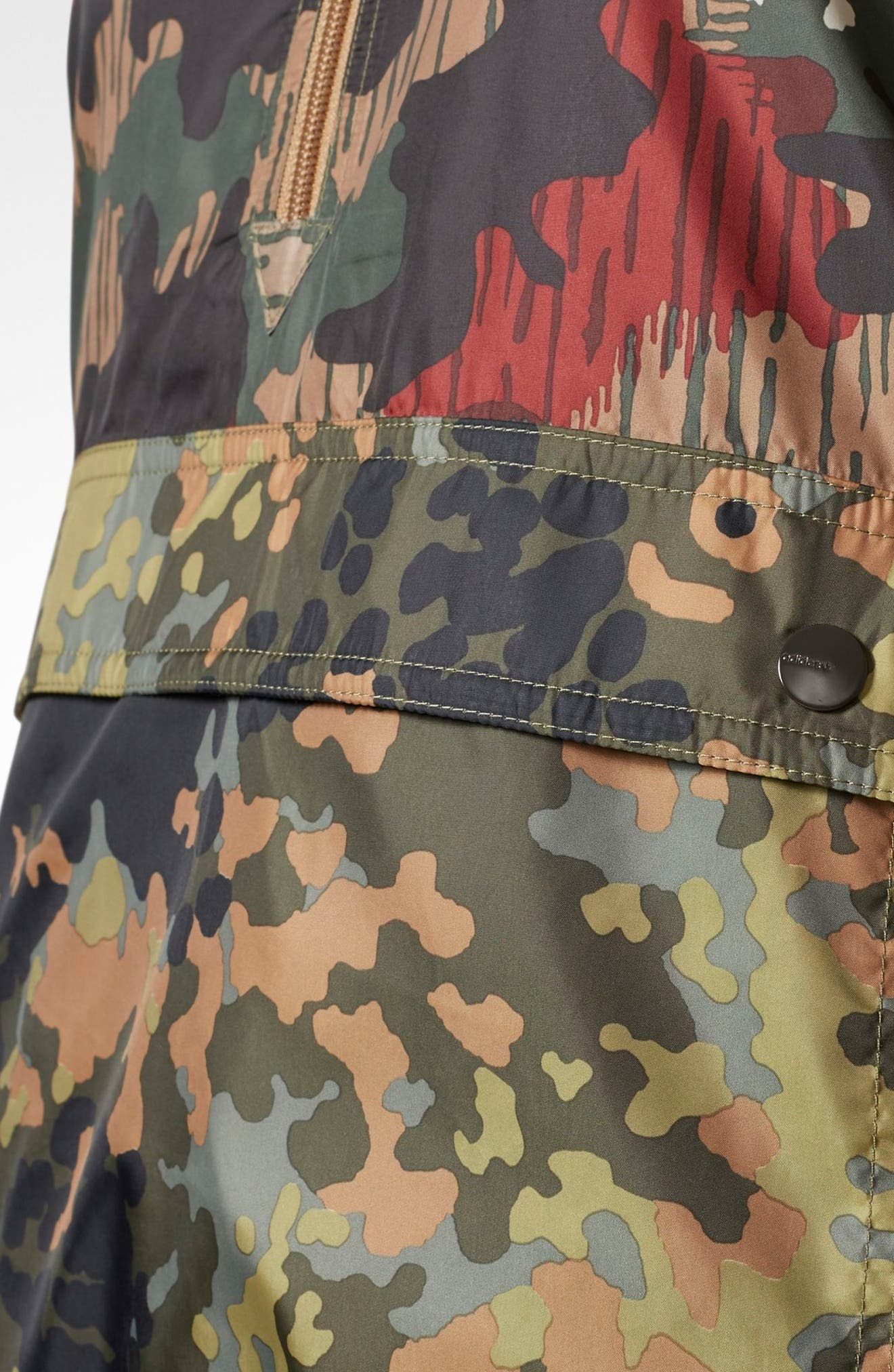 Originals by Pharrell Williams HU Hiking Camo Logo Windbreaker,                             Alternate thumbnail 6, color,                             300