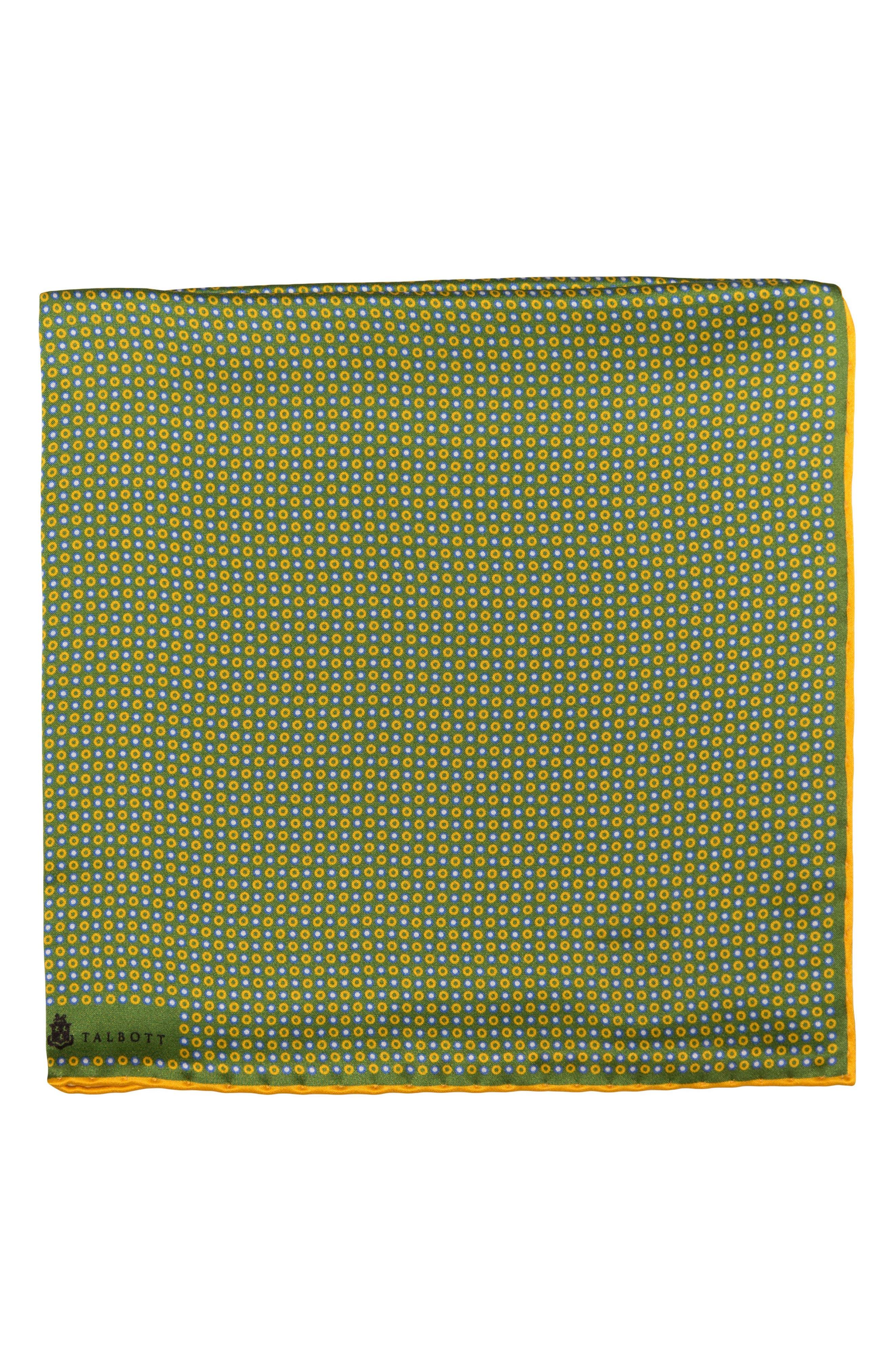 Geometric Silk Pocket Square,                             Main thumbnail 1, color,                             300