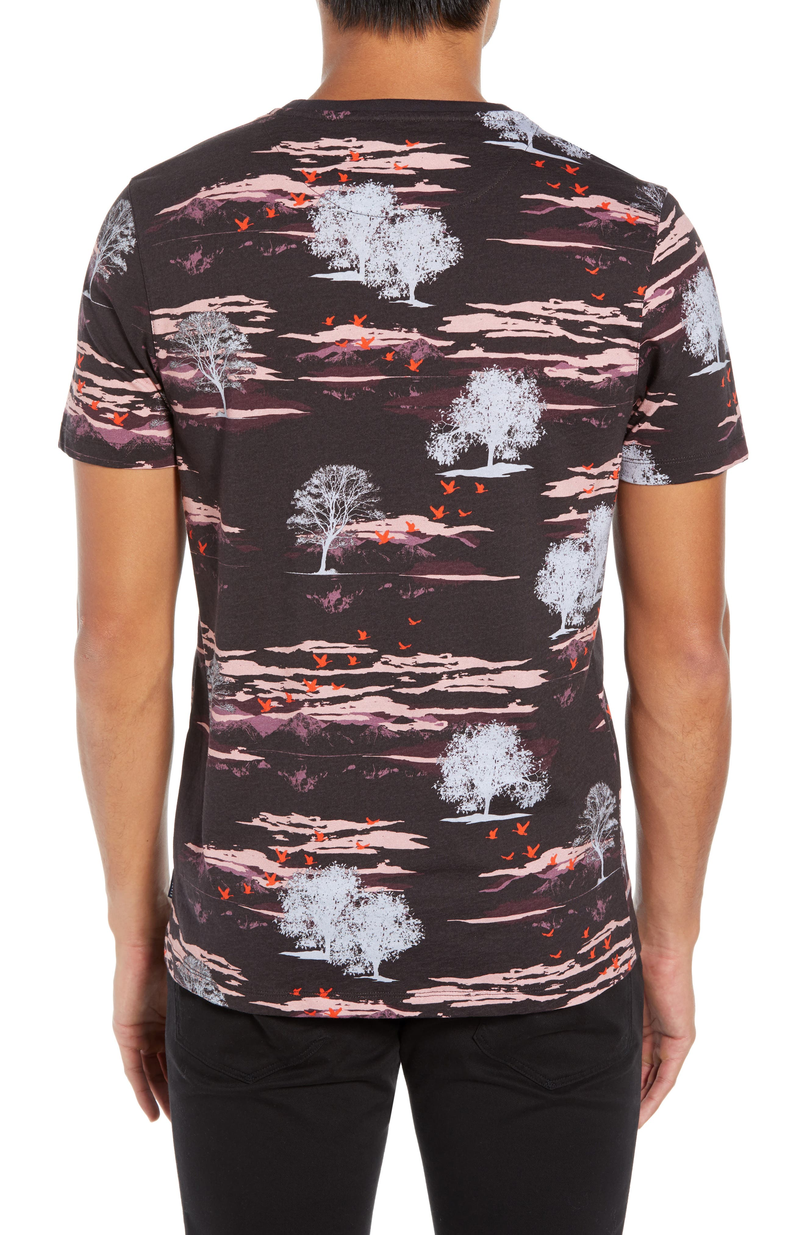 Happie Slim Fit Print T-Shirt,                             Alternate thumbnail 2, color,                             601