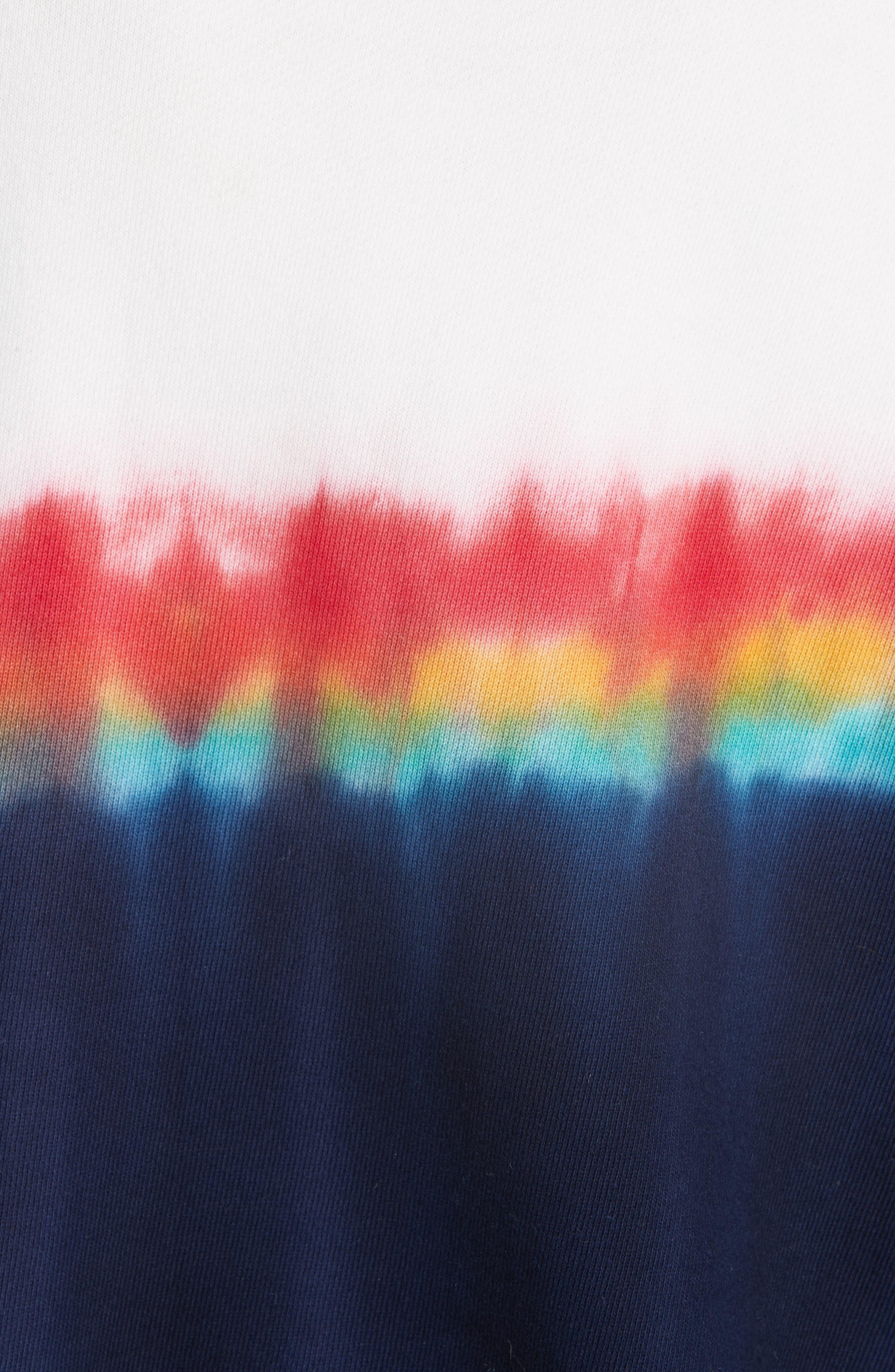 Rainbow Dye Tee,                             Alternate thumbnail 5, color,                             RAINBOW
