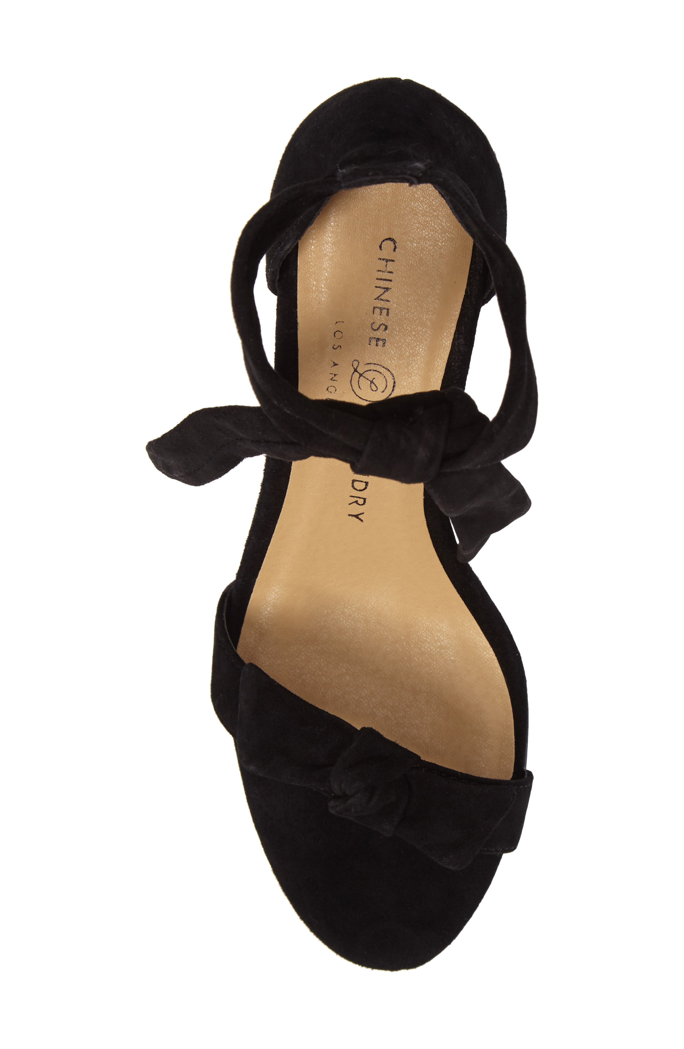 Rhonda Ankle Tie Sandal,                             Alternate thumbnail 5, color,                             001