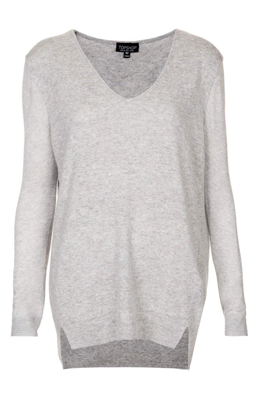 Sheer Sleeve Tunic Sweater,                             Alternate thumbnail 2, color,
