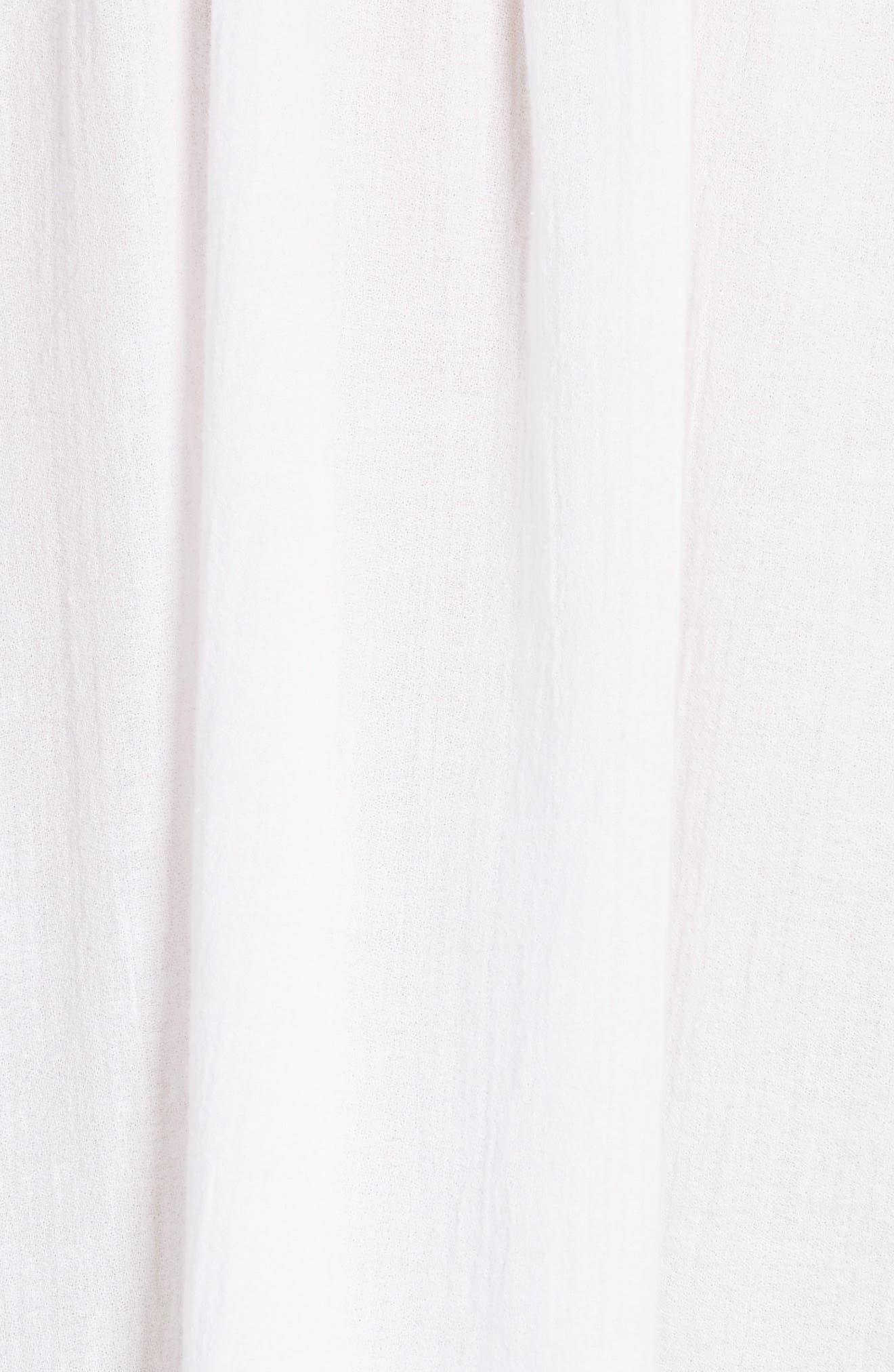 Topstitch Crinkle Cotton Top,                             Alternate thumbnail 10, color,