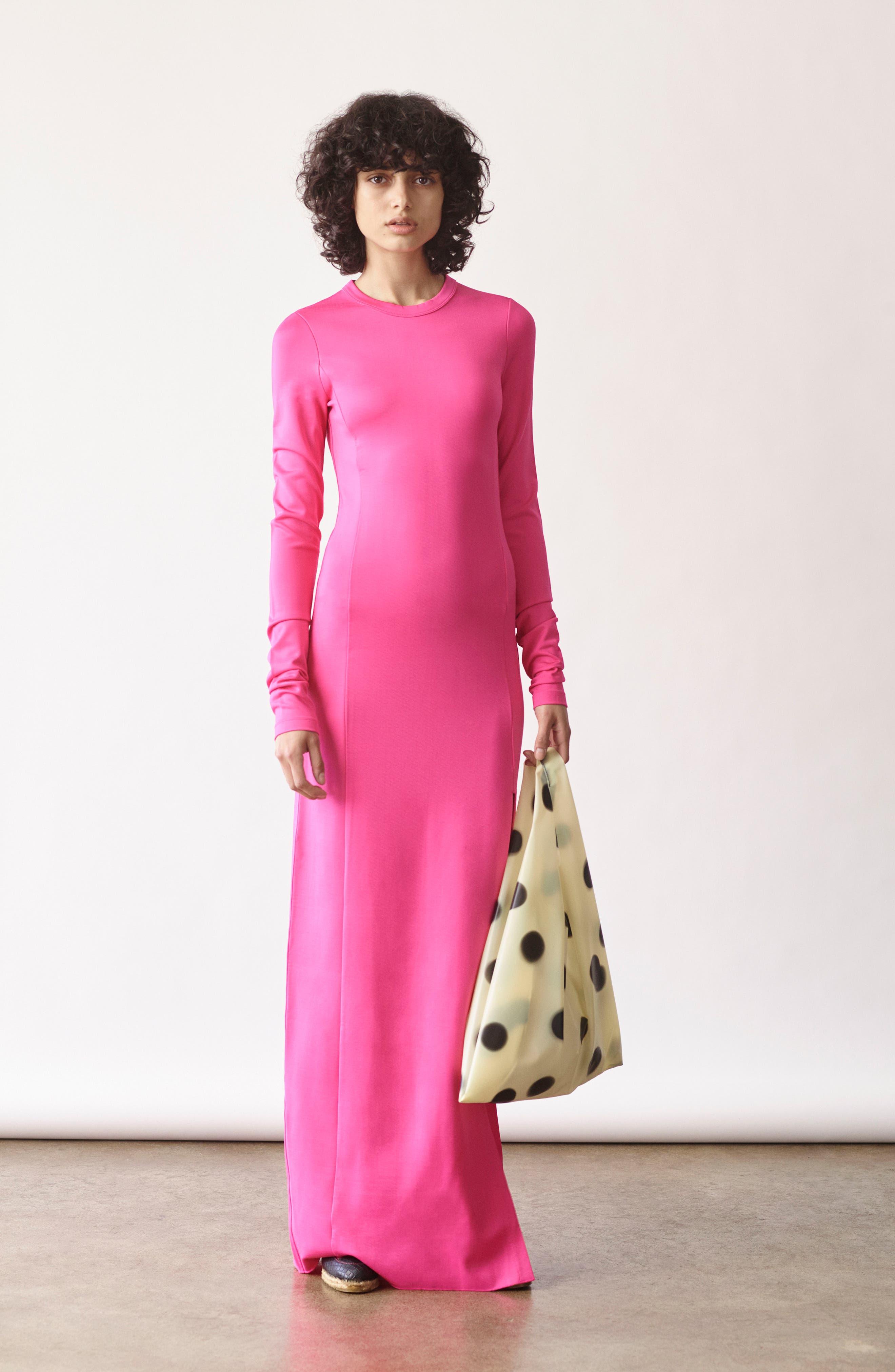 Fallon Slit Skirt Jersey Maxi Dress,                             Alternate thumbnail 7, color,                             001
