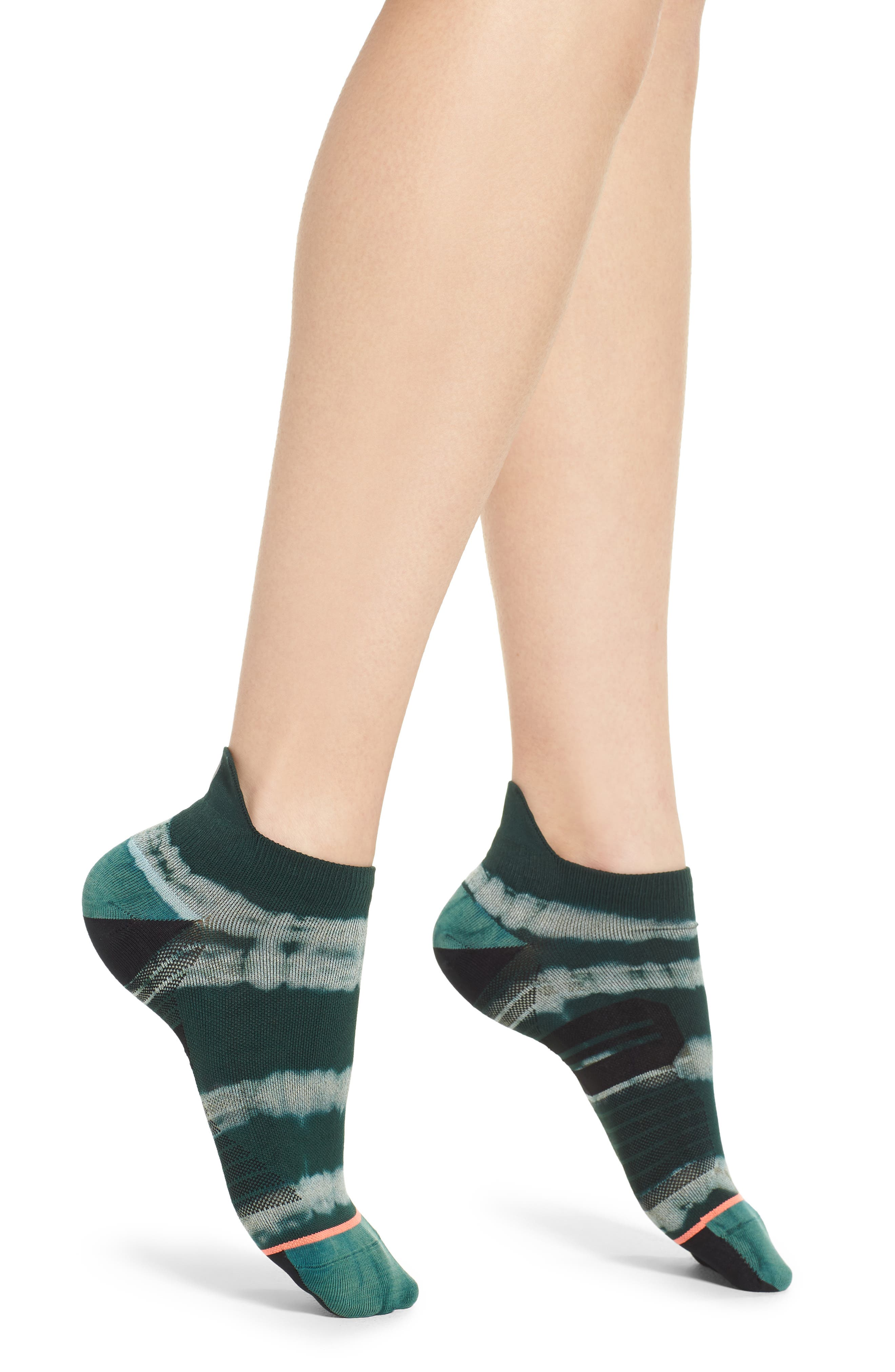 Downhill Tab Running Socks,                             Main thumbnail 1, color,                             TEAL