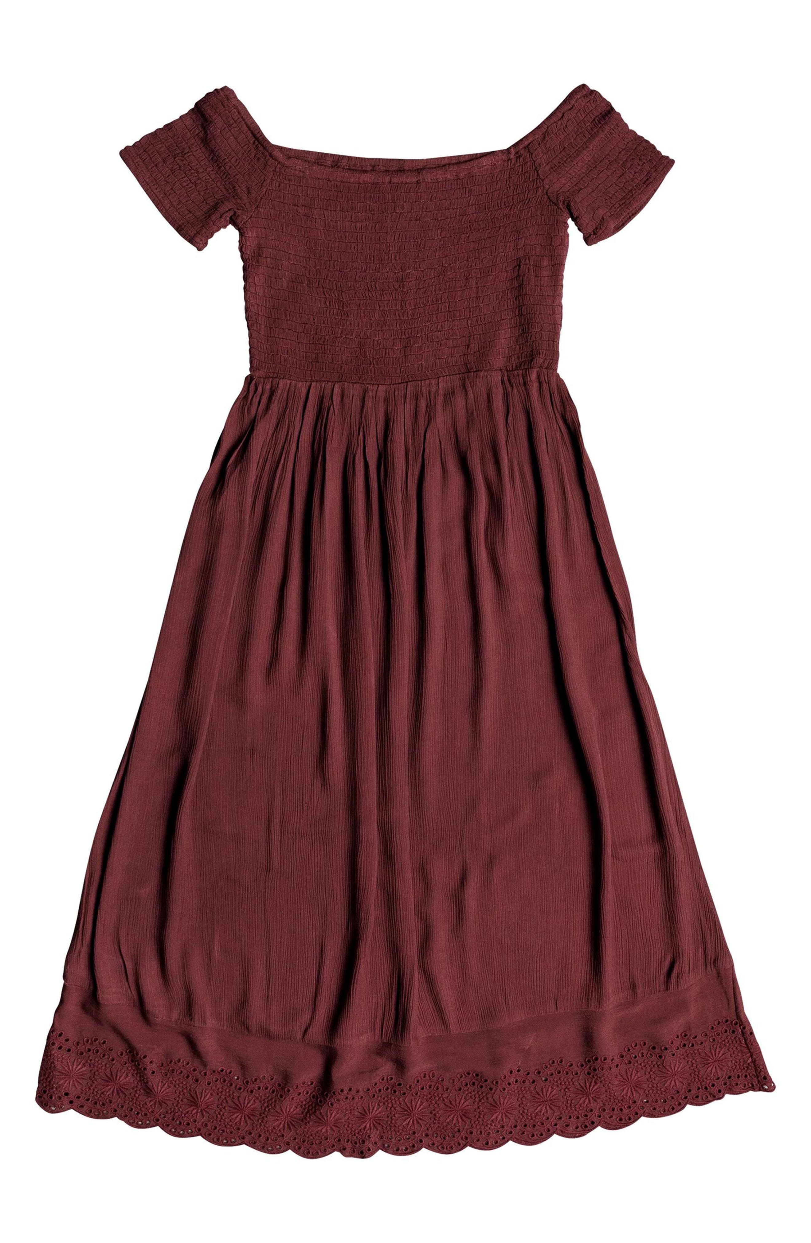 Pretty Lovers Off the Shoulder Midi Dress,                             Alternate thumbnail 13, color,
