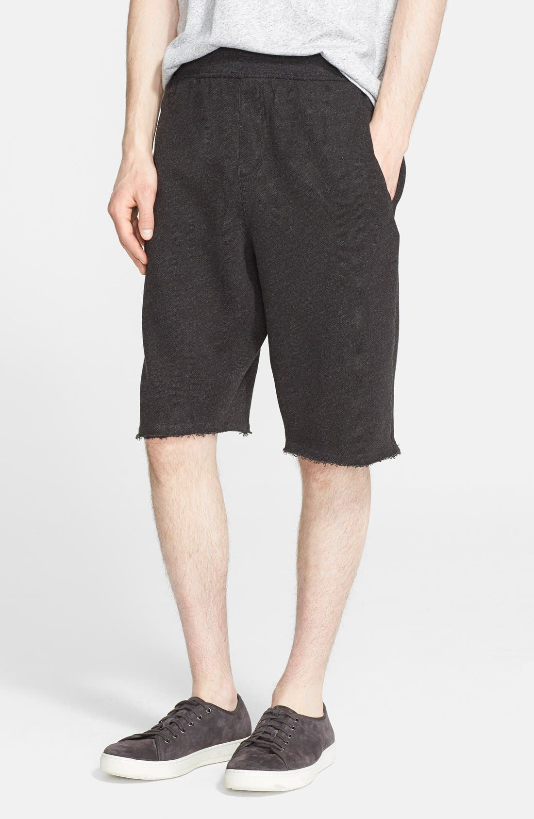 Cutoff Sweat Shorts,                             Main thumbnail 1, color,                             021