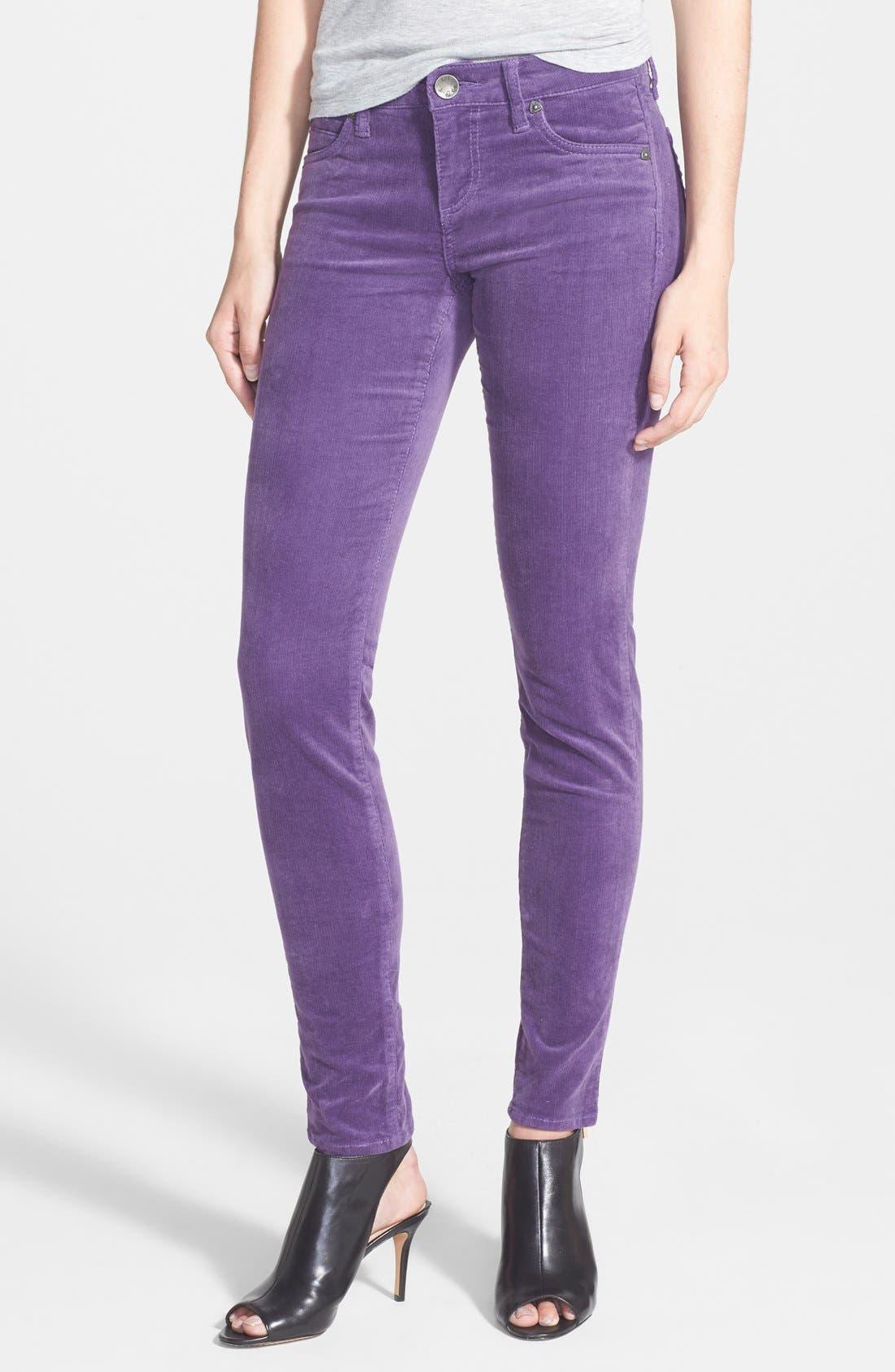'Diana' Stretch Corduroy Skinny Pants,                             Main thumbnail 38, color,